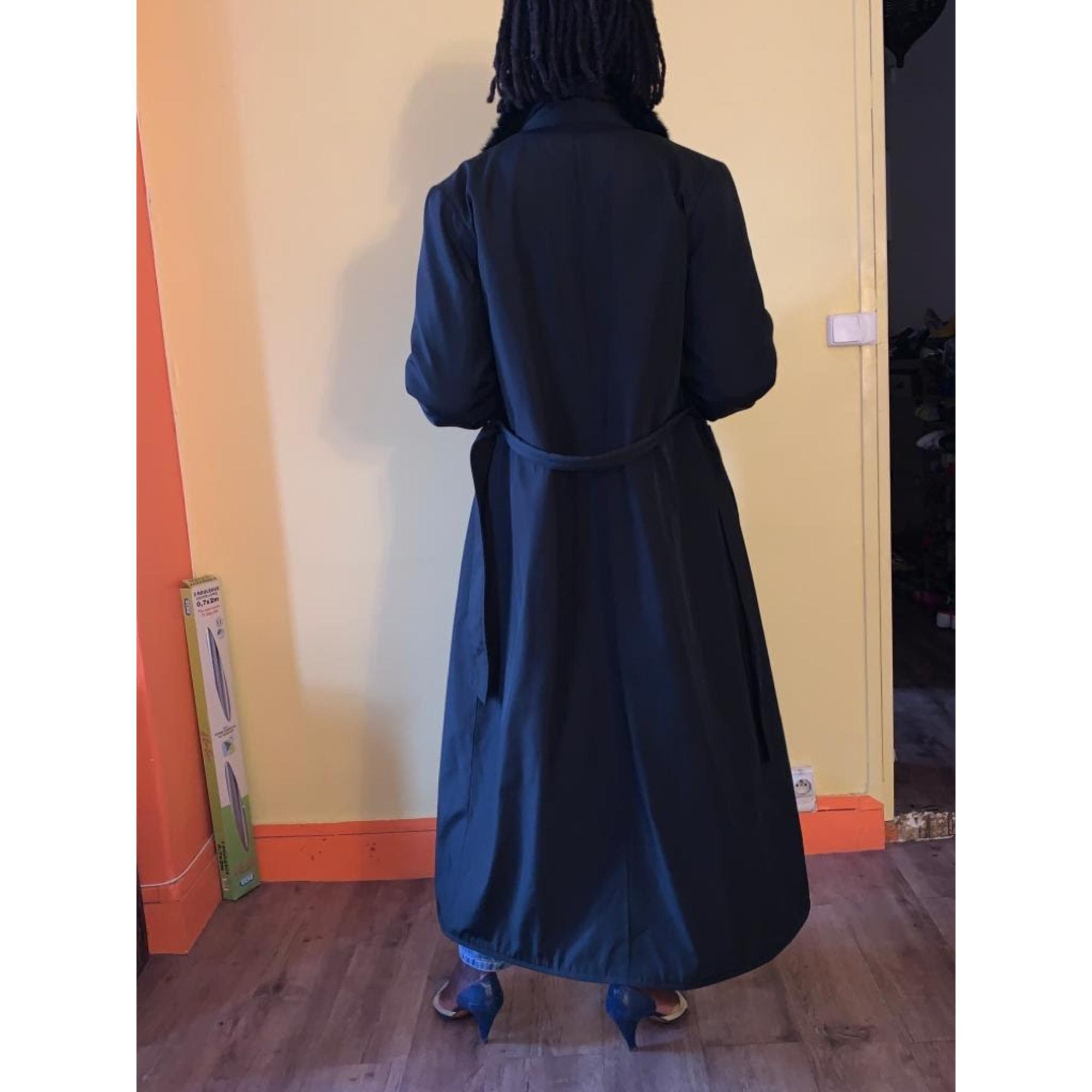 Manteau imperméable noir Balmain en coloris Noir gfvRE