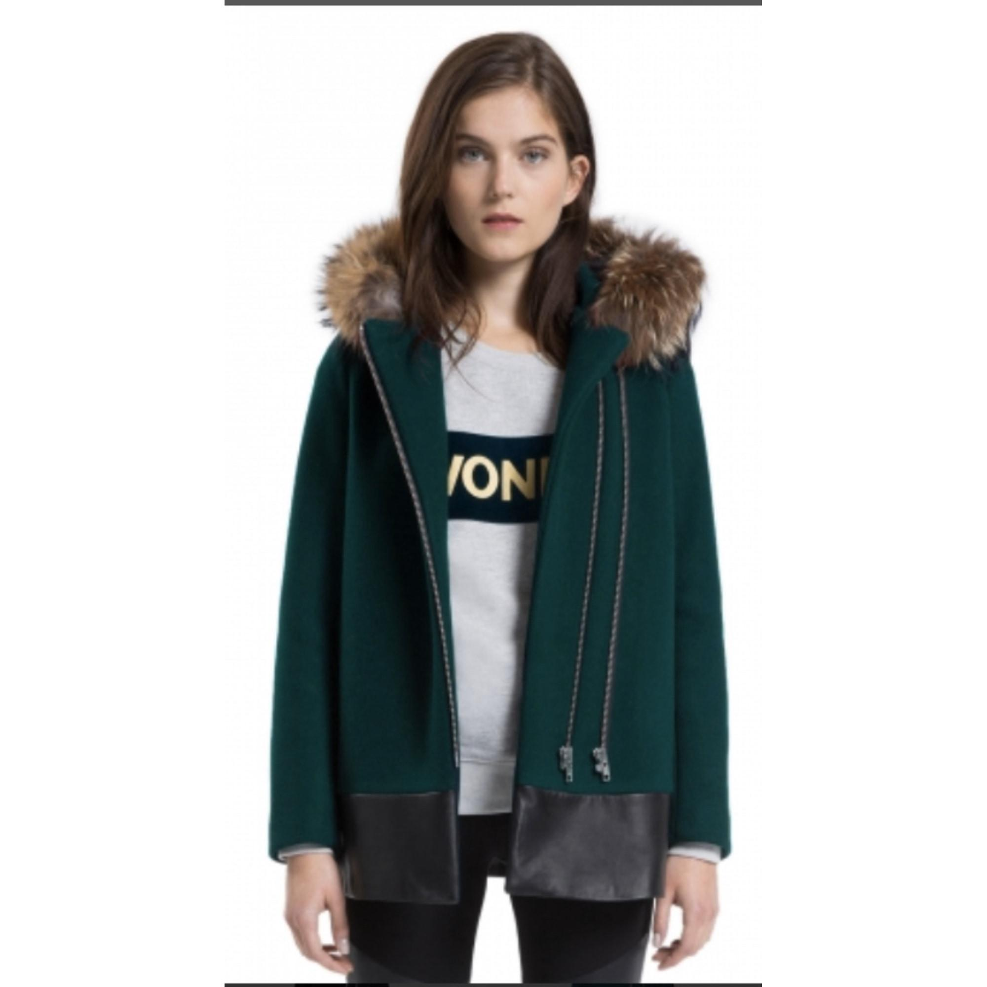 Manteau laine vert Sandro en coloris Vert Y9IuV