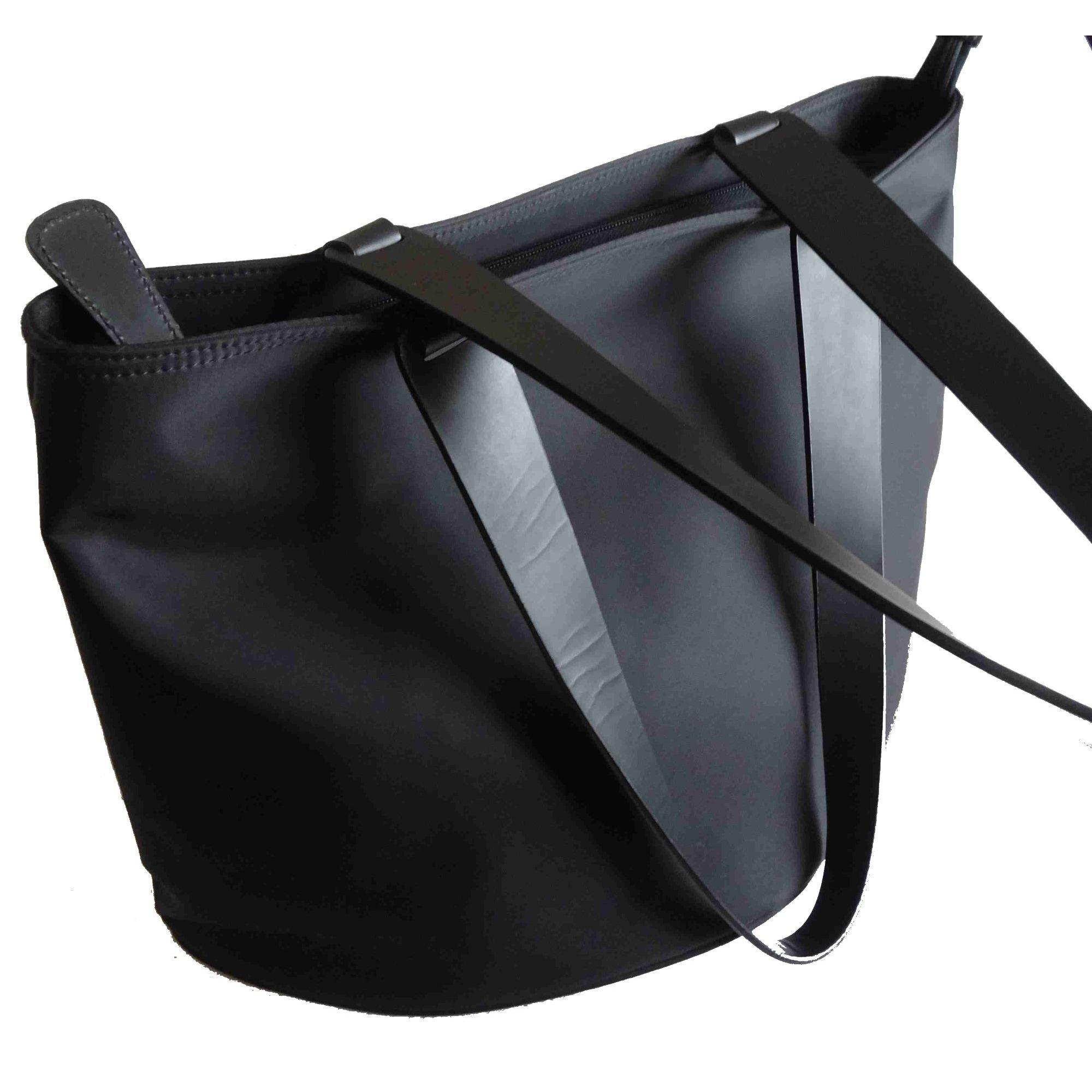 Sac en bandoulière en tissu synthétique noir Lancel en coloris Noir