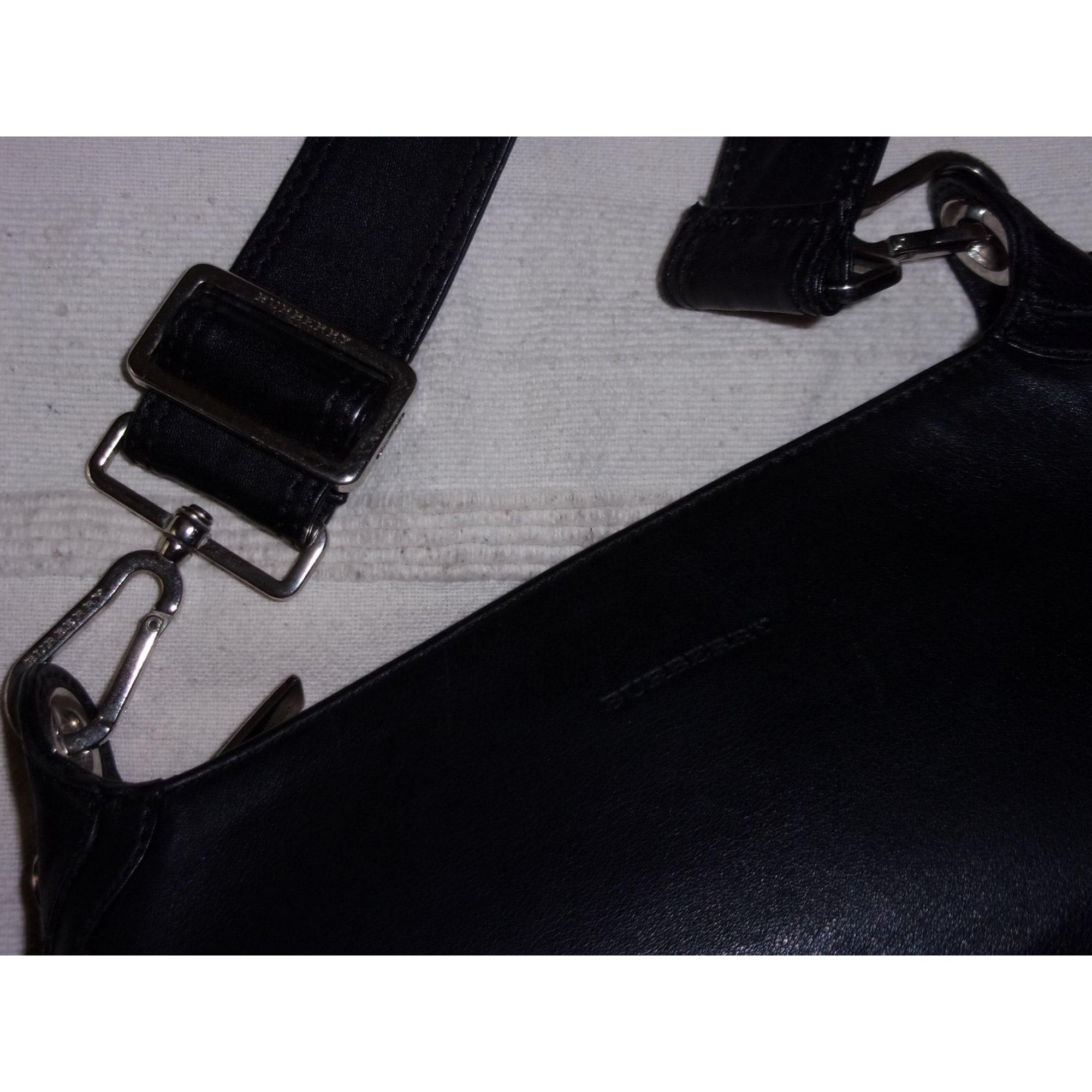 Sac à main en cuir cuir noir Burberry en coloris Noir 2Pq2