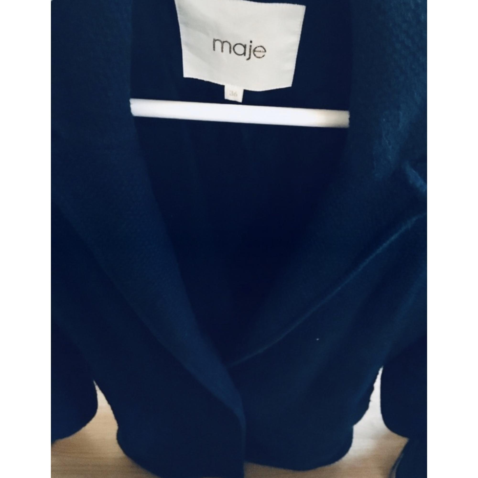 Manteau autre bleu Maje en coloris Bleu 51Fk8