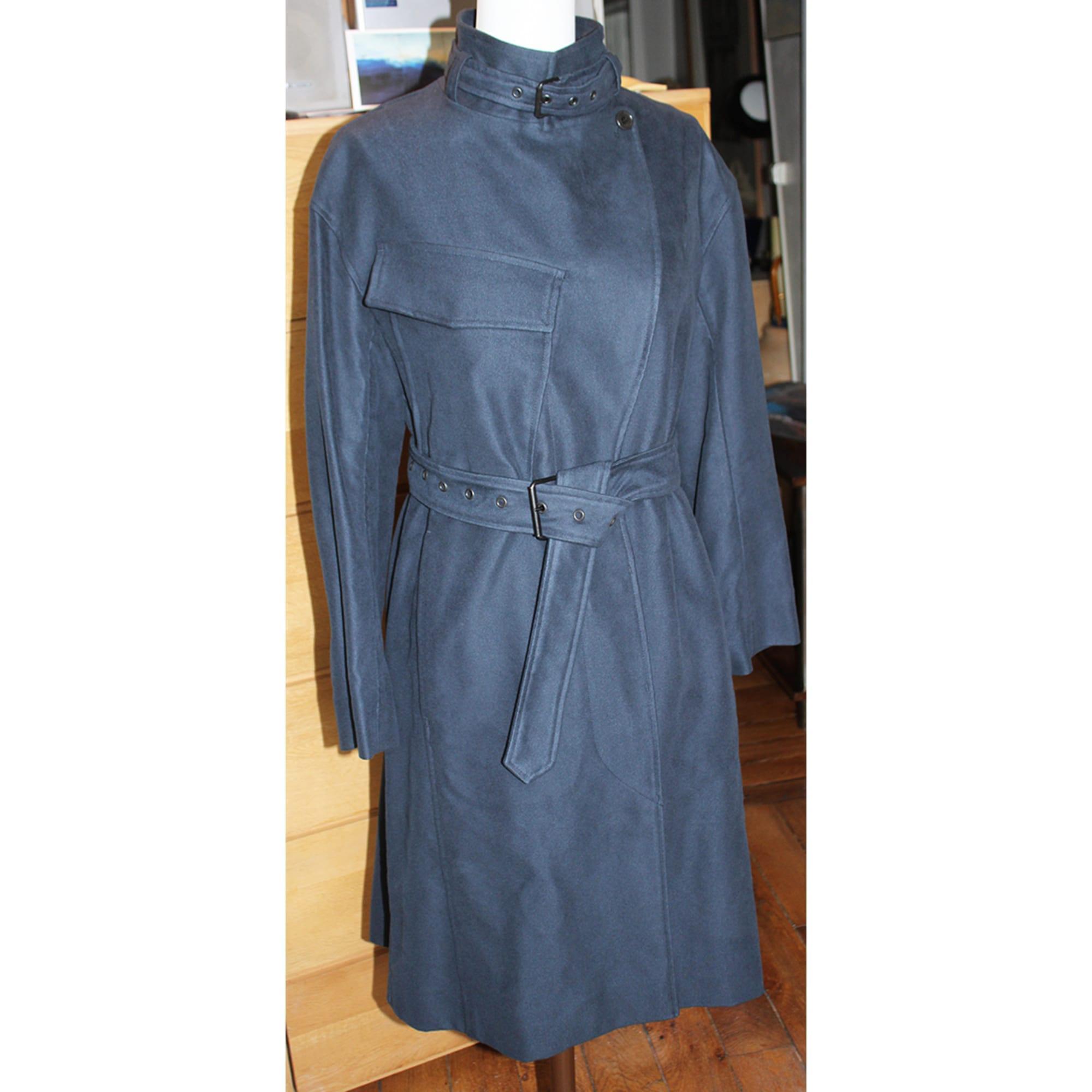 Manteau suédine bleu Isabel Marant en coloris Bleu WzkYW