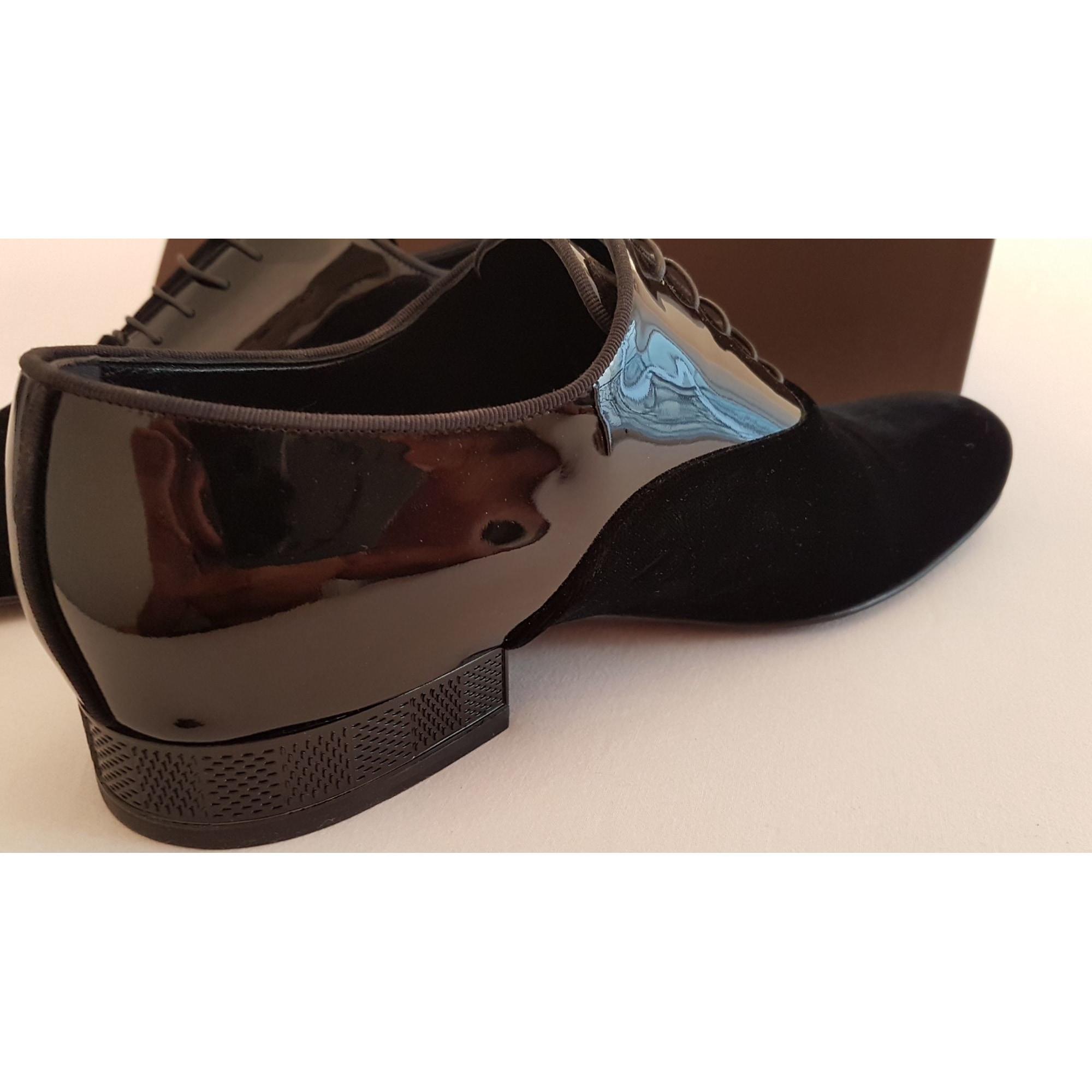 Noir Cuir Verni À Homme Lacets Chaussures y8PvwONn0m