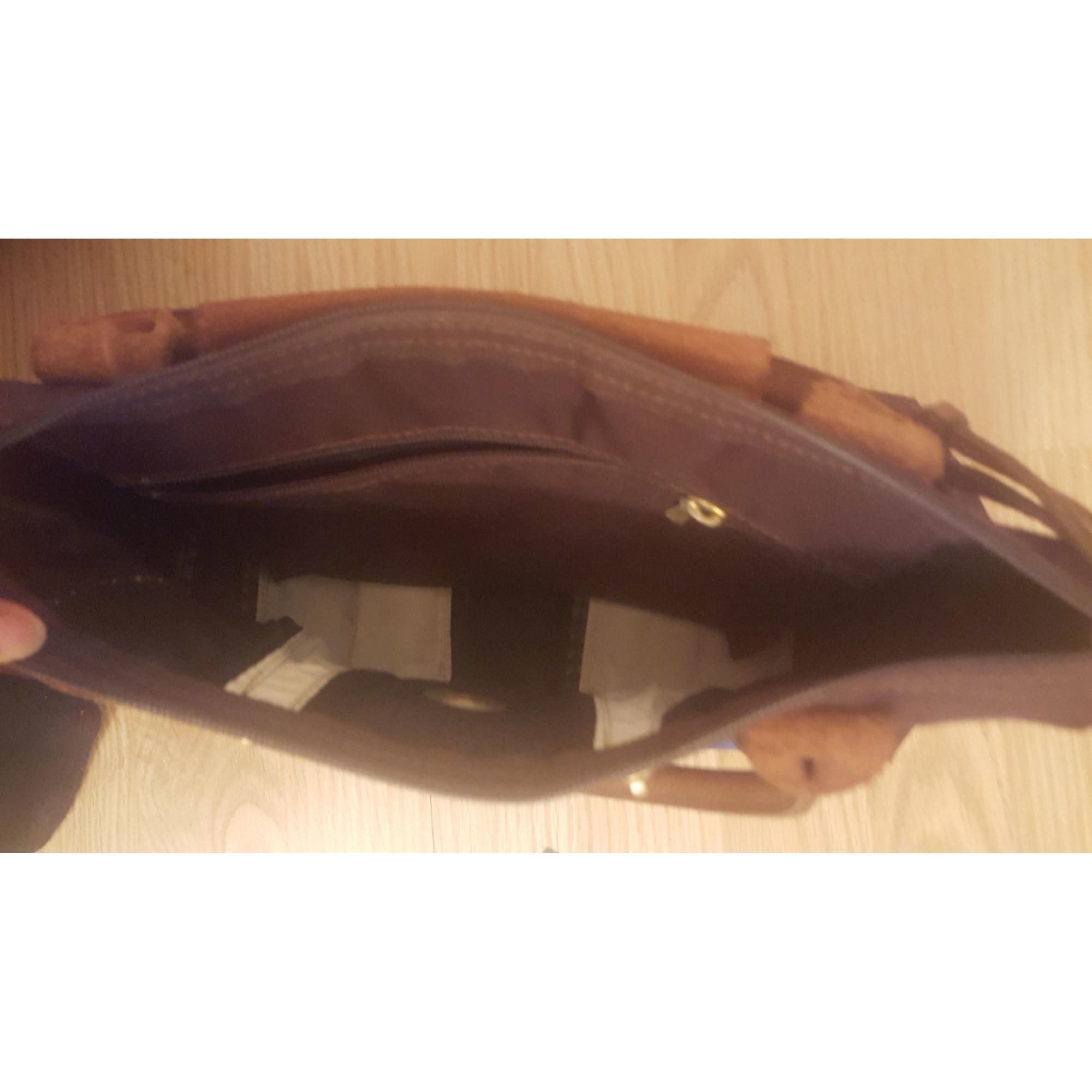 Sac à main en tissu tissu marron Longchamp en coloris Marron uX3q