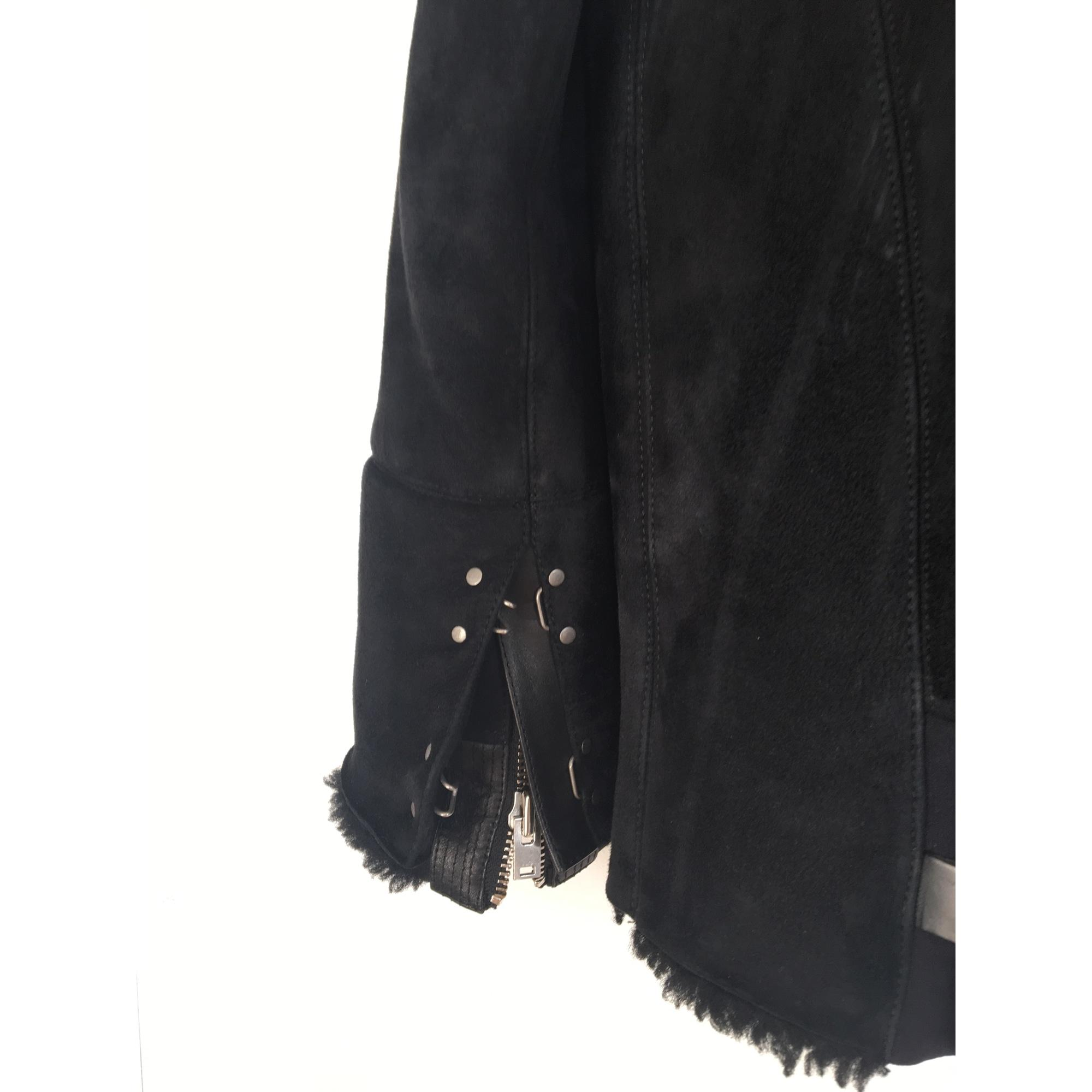 Manteau peau retournée, 100% mouton noir IRO en coloris Noir  90T0M