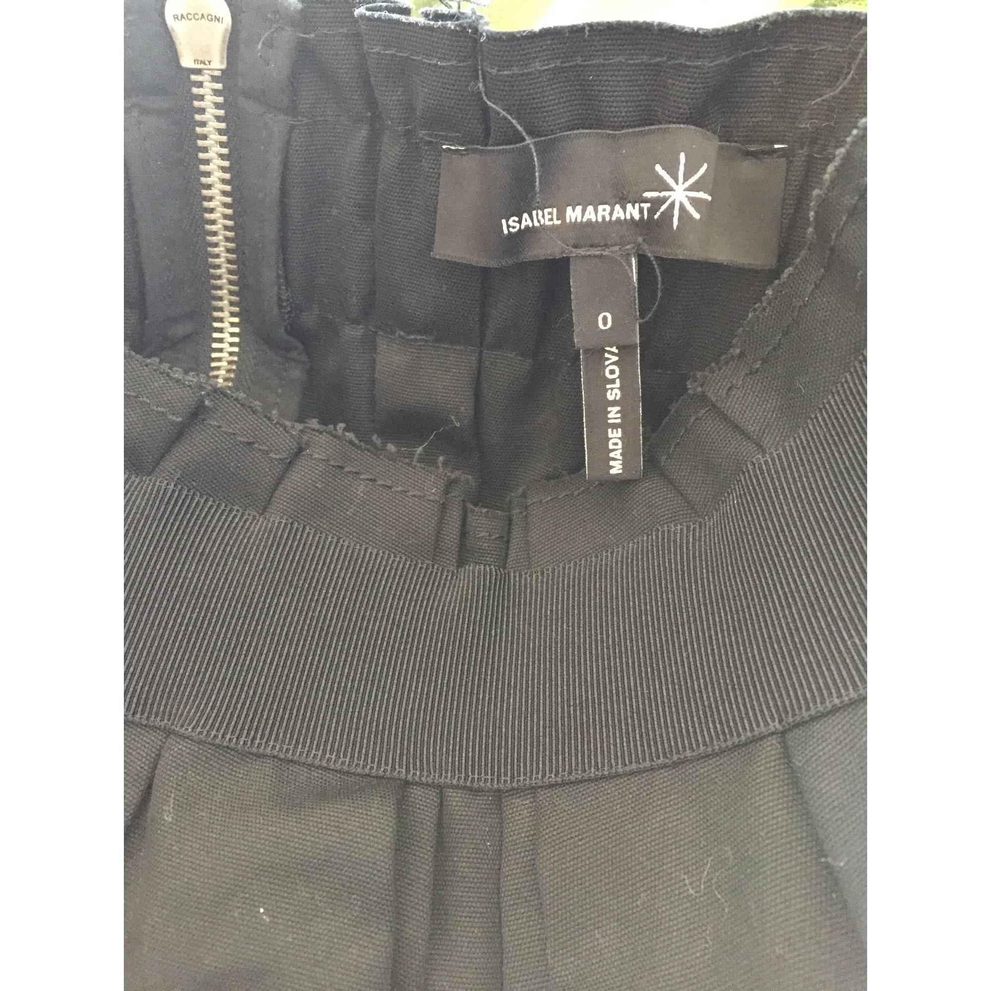 Jupe courte coton noir Isabel Marant en coloris Noir