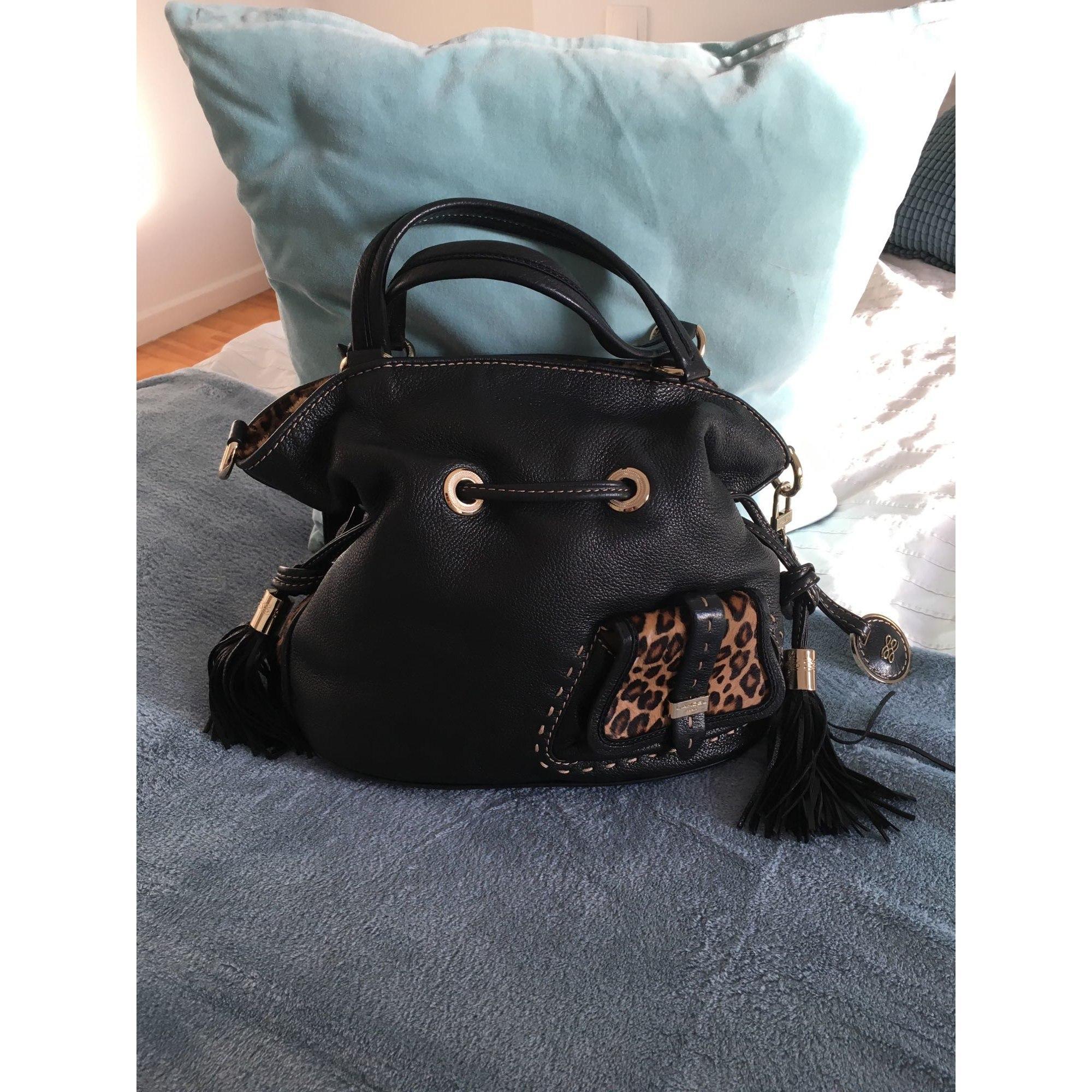 Sac à main en cuir cuir Premier Flirt noir Lancel en coloris Noir 684p
