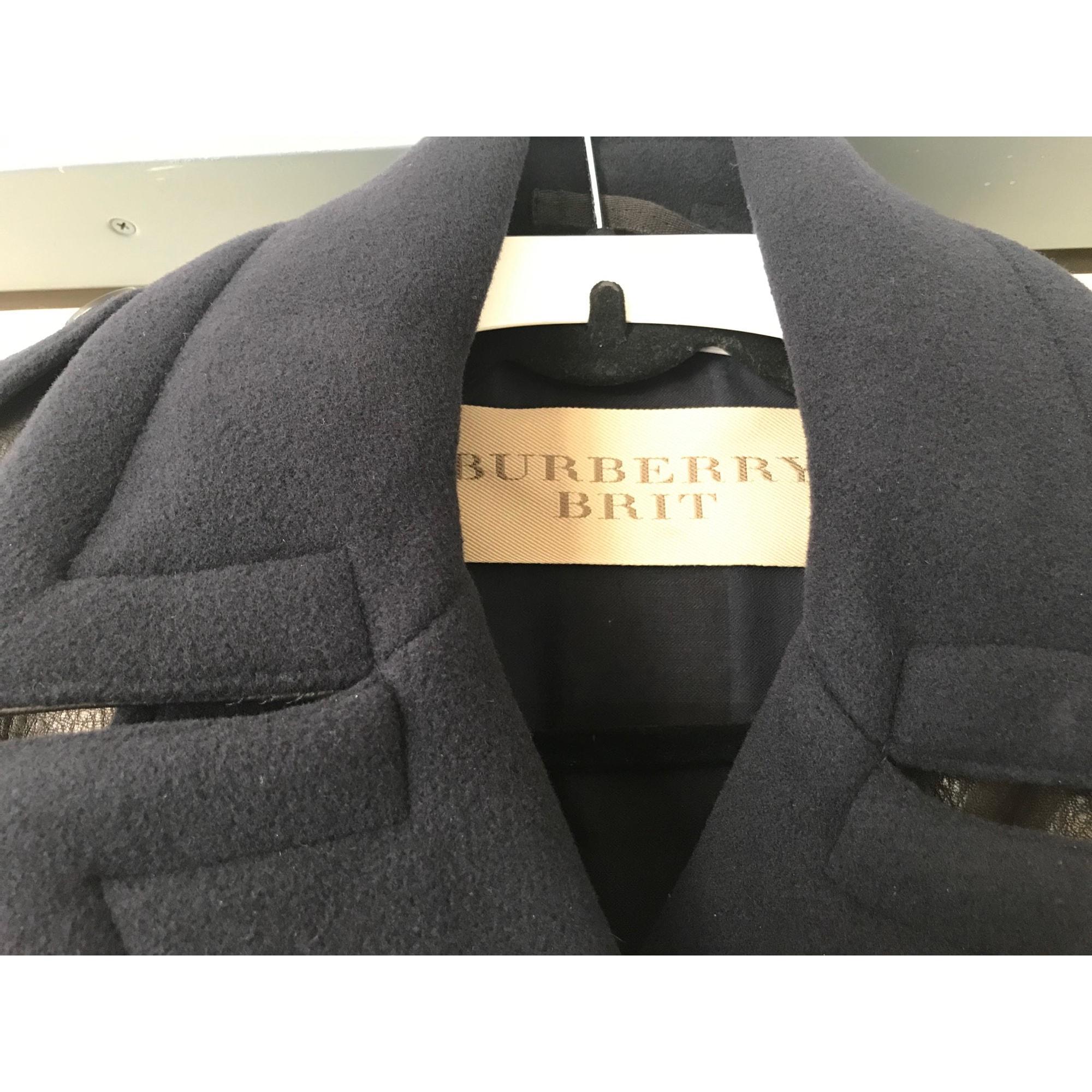 Manteau laine doré Burberry en coloris Métallisé tbkm1
