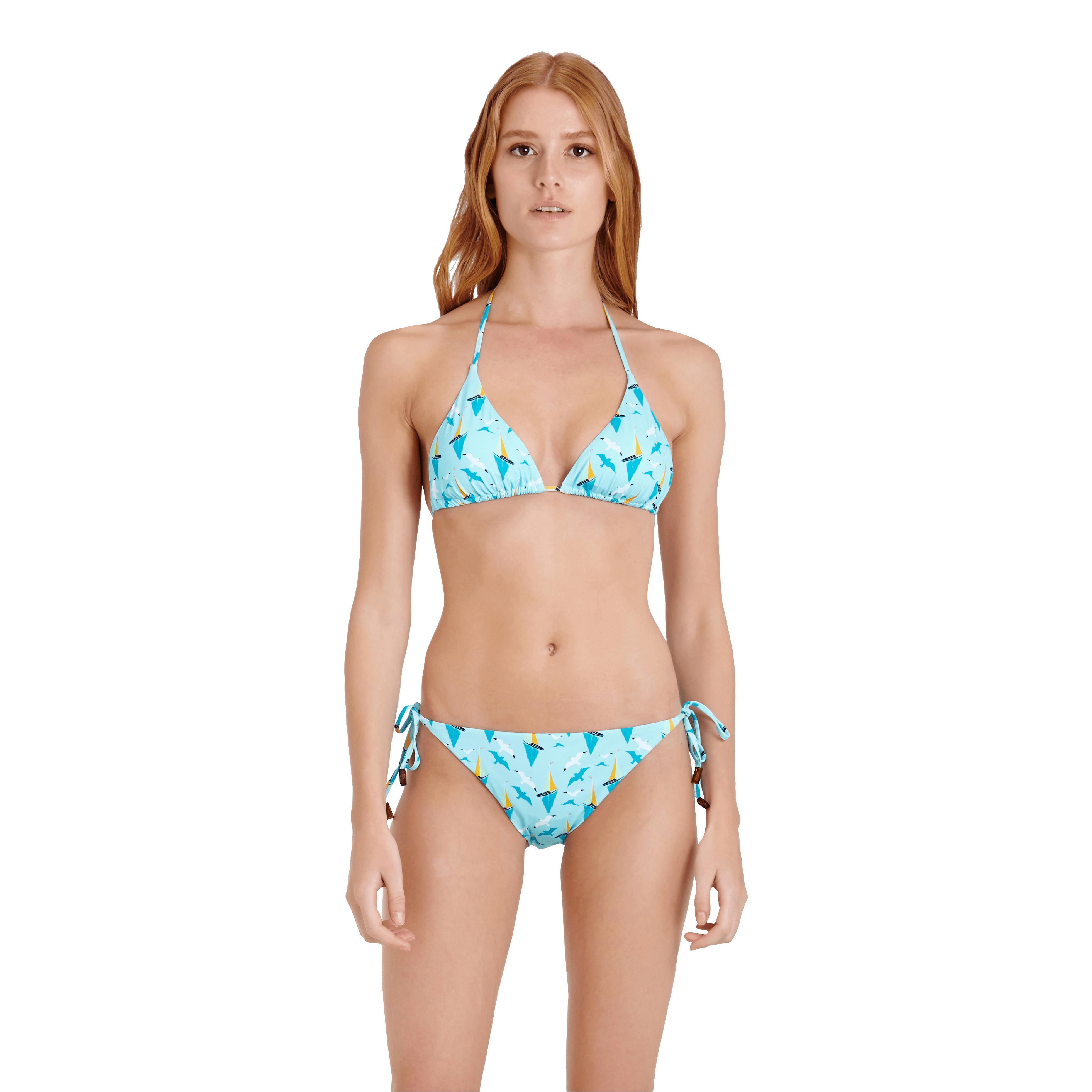 vilebrequin synthetic women triangle bikini top bateaux sur l 39 eau in blue lyst