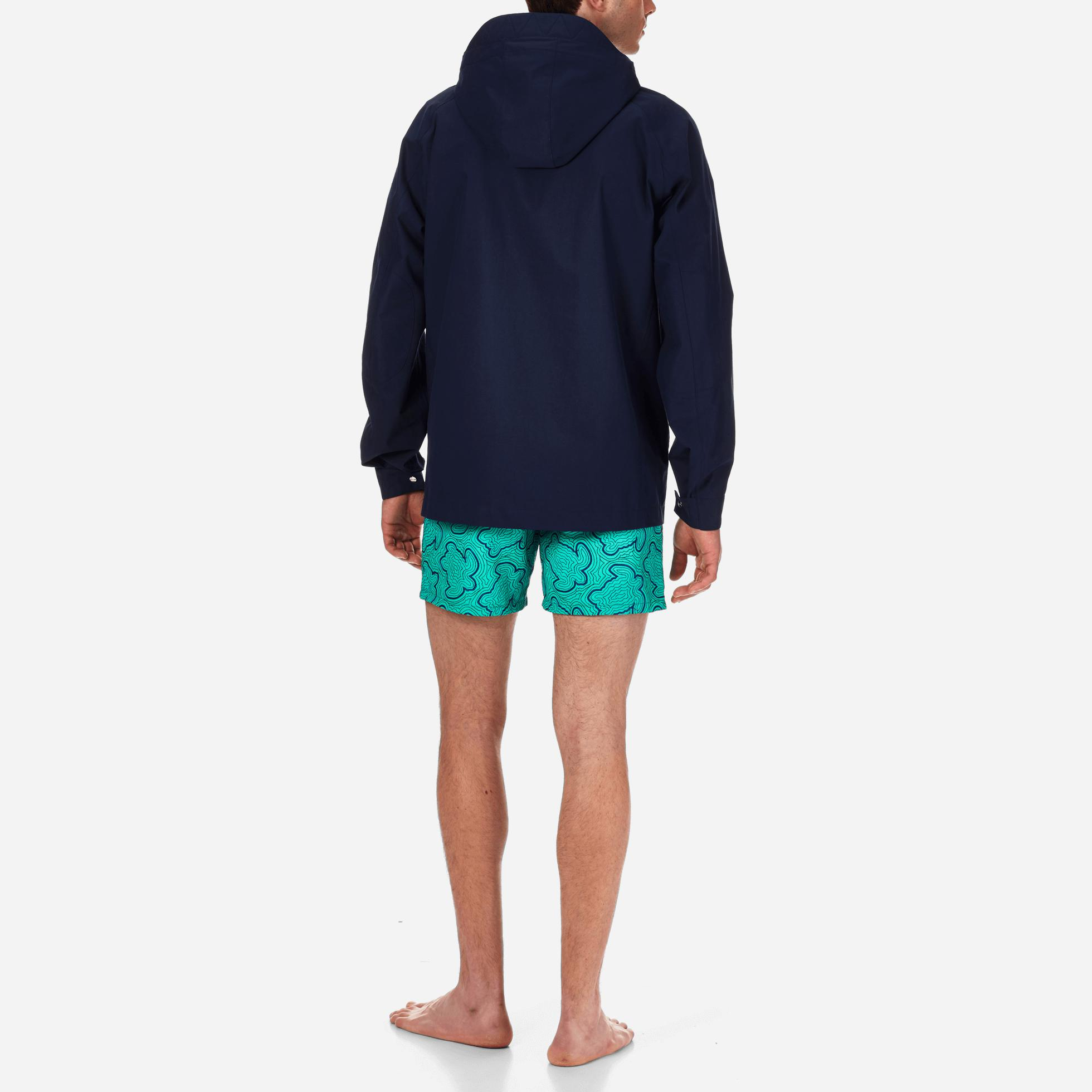 Vilebrequin Cotton Water Proof Hooded Rain Jacket in Navy (Blue) for Men