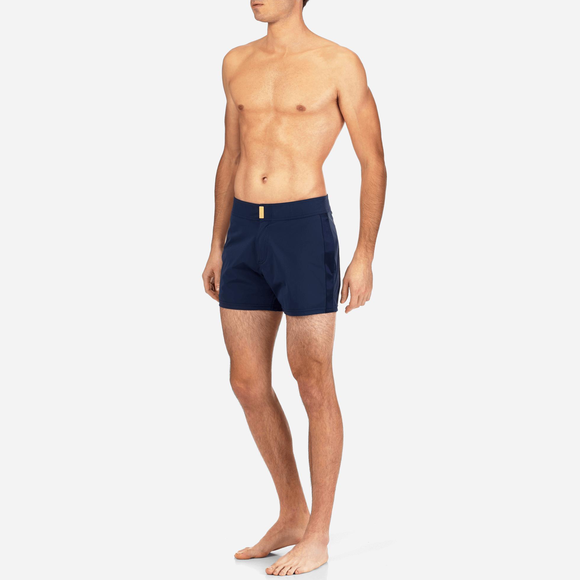 50209ed8b7 Vilebrequin Blue Smoking Tuxedo Fitted Swim Shorts for men
