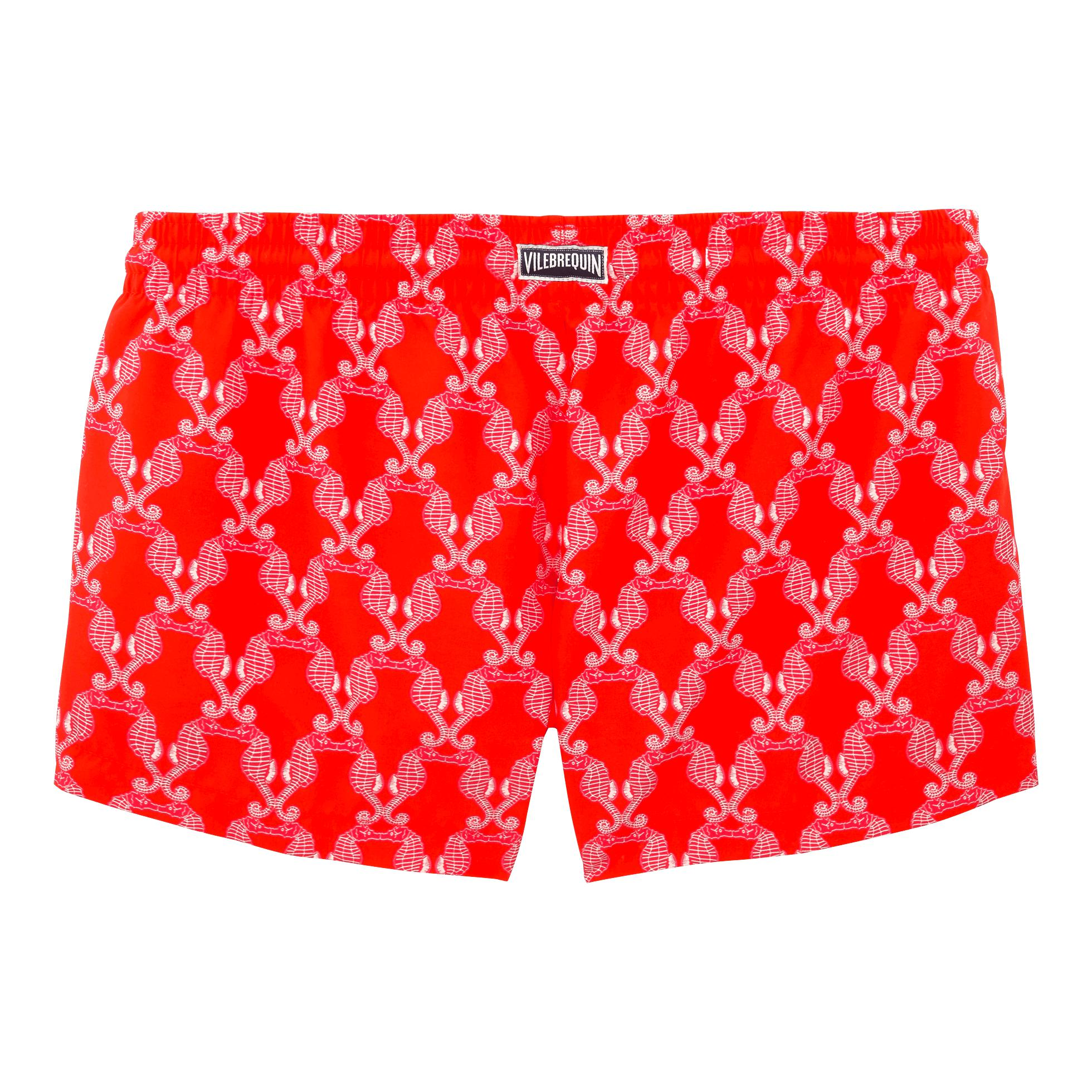 Lyst - Vilebrequin Valentine Day Hippocampes Straight Cut Shortie in Red b0d9db06a