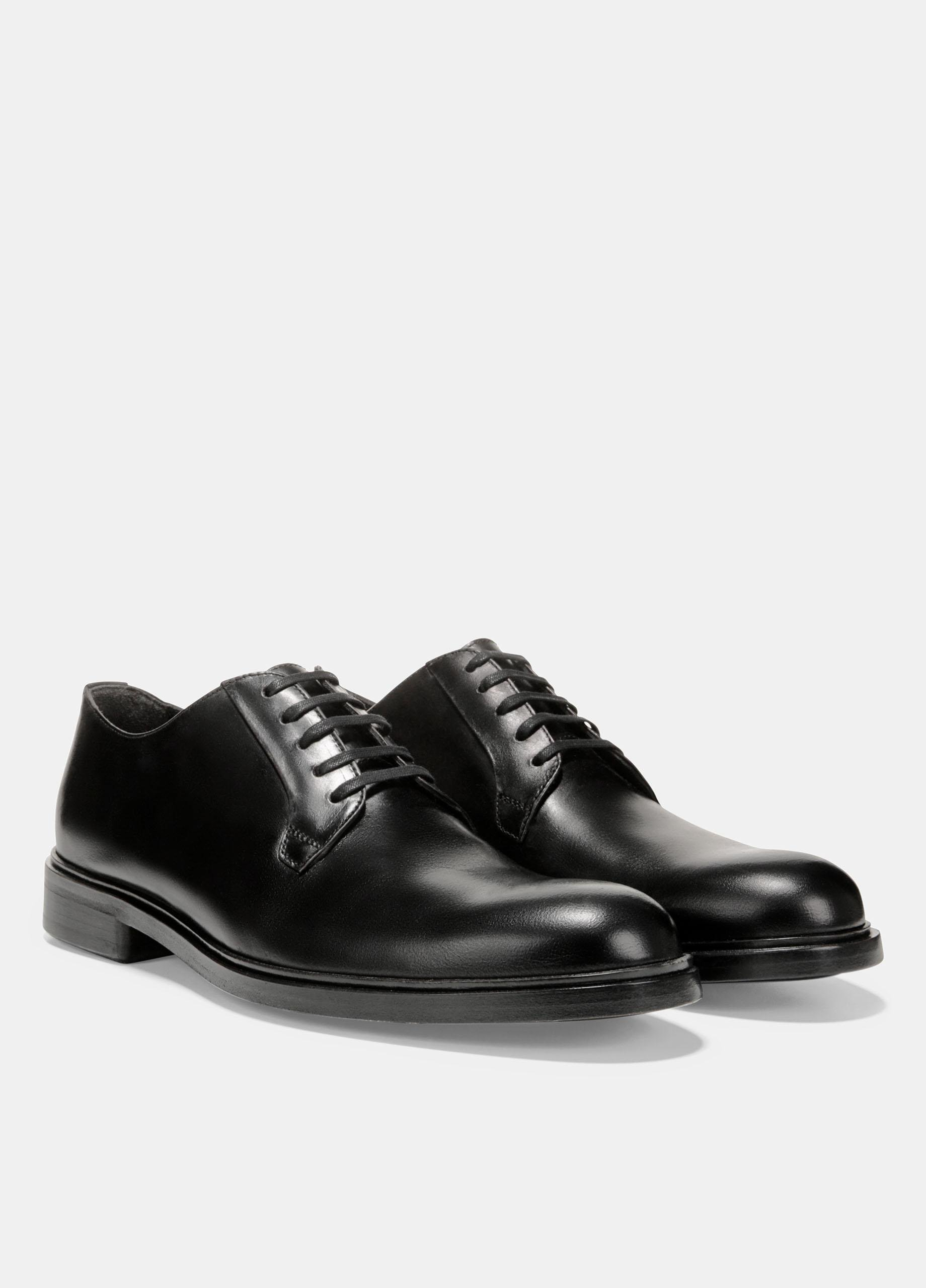 Vince Leather Boerum Shoe in Black for Men