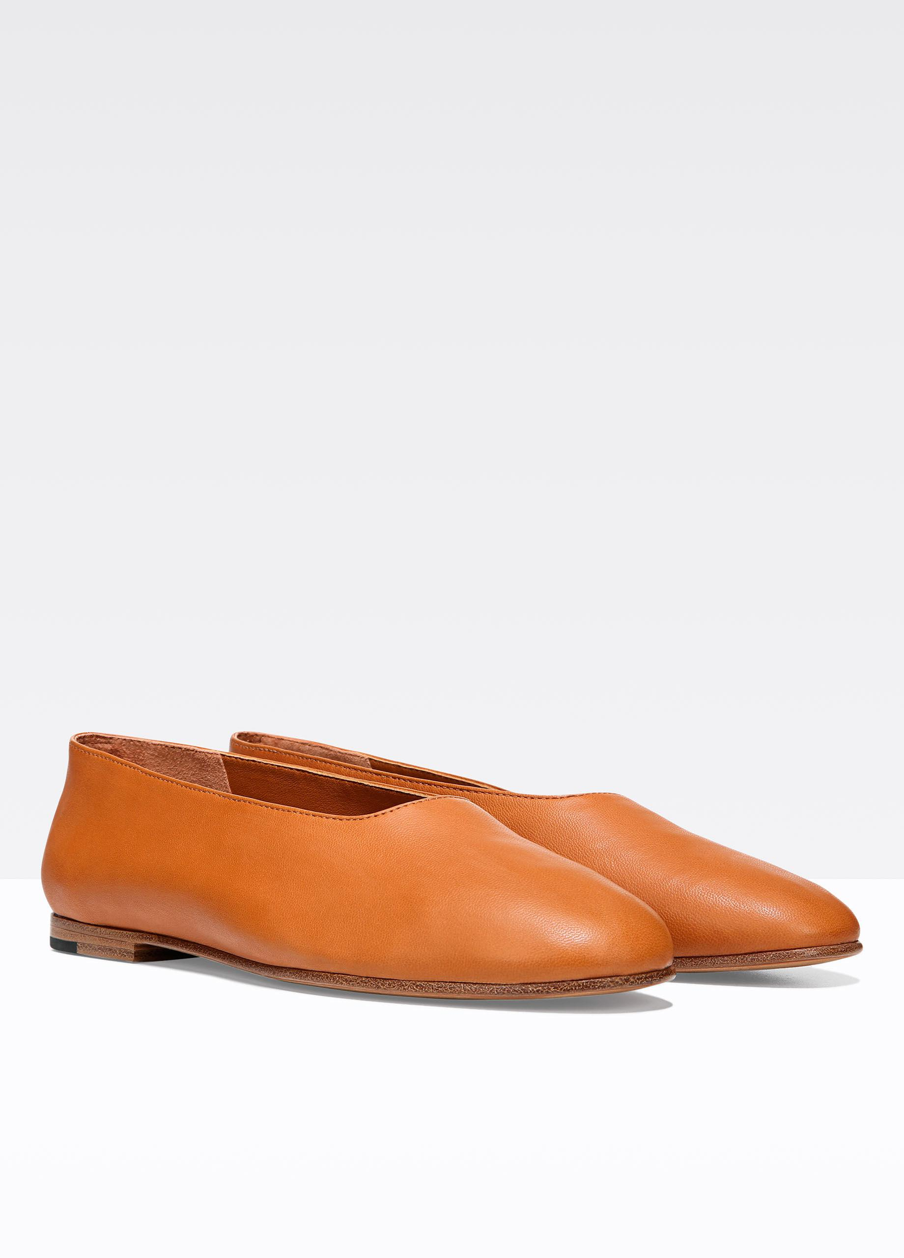 Vince Leather Womens Maxwell 2 Closed Toe Ballet Flats In
