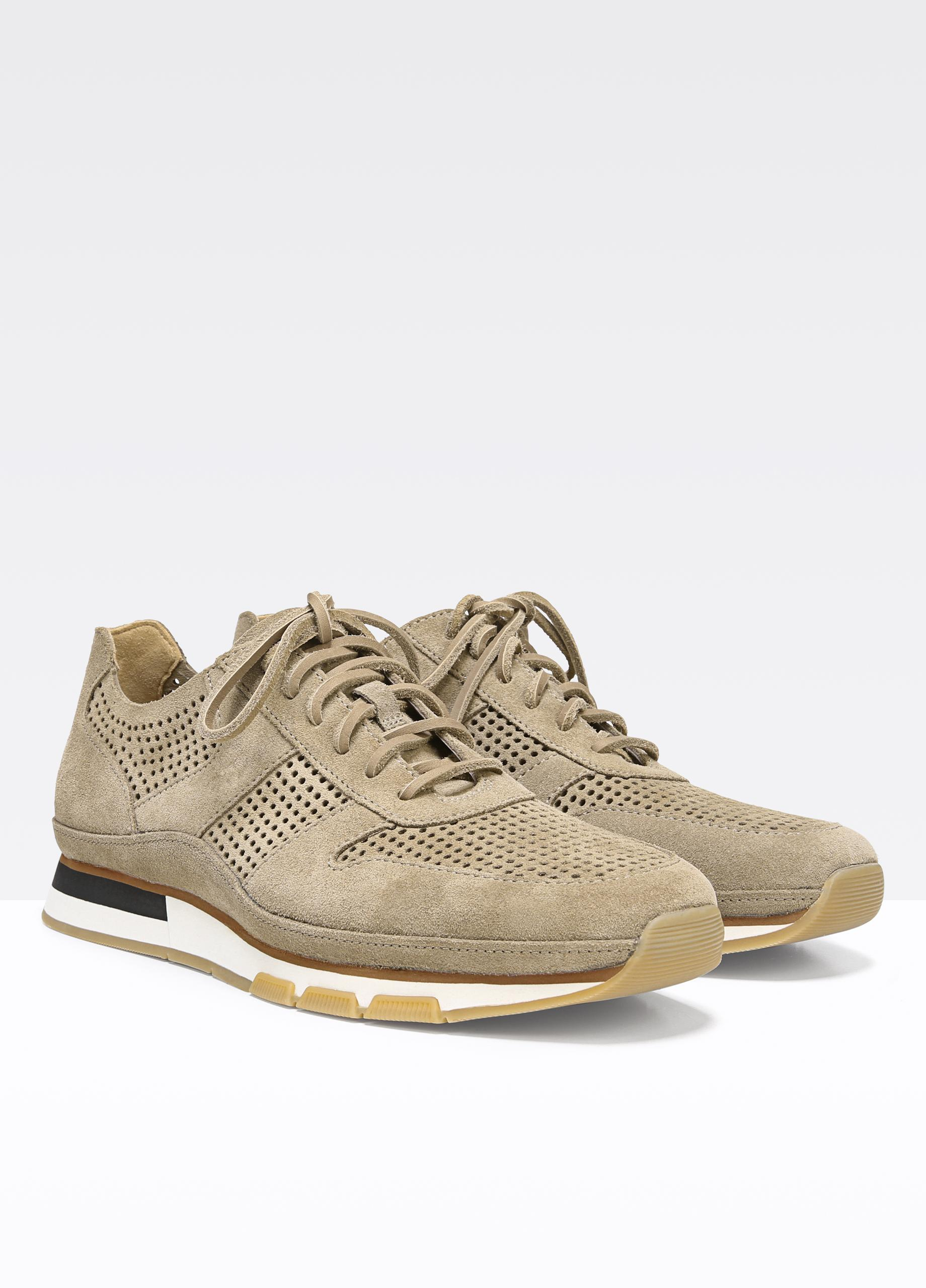 Vince Larson Perforated Suede Sneakers