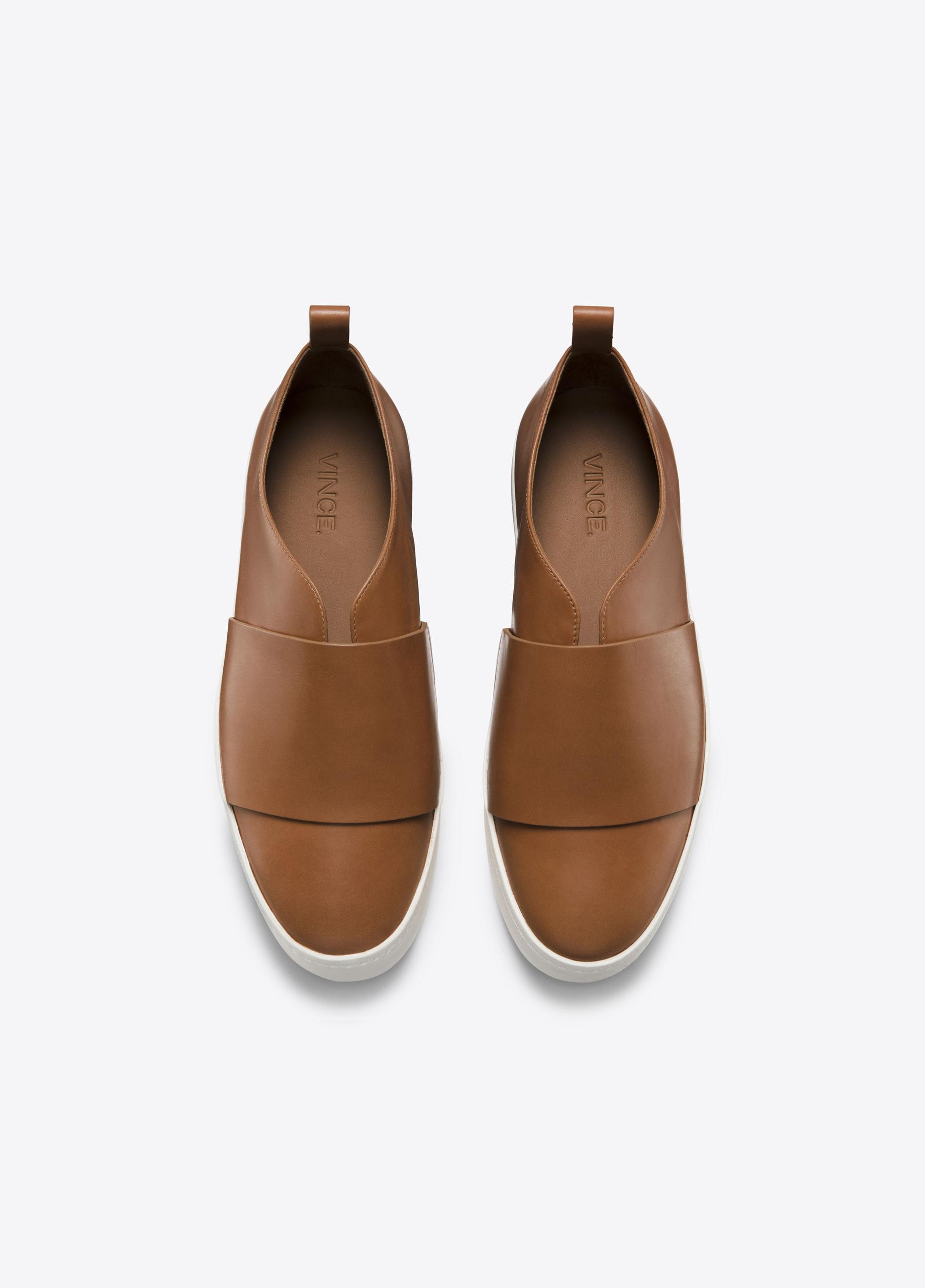 e633447c2ff Lyst - Vince Wallace Leather Sneaker in Brown