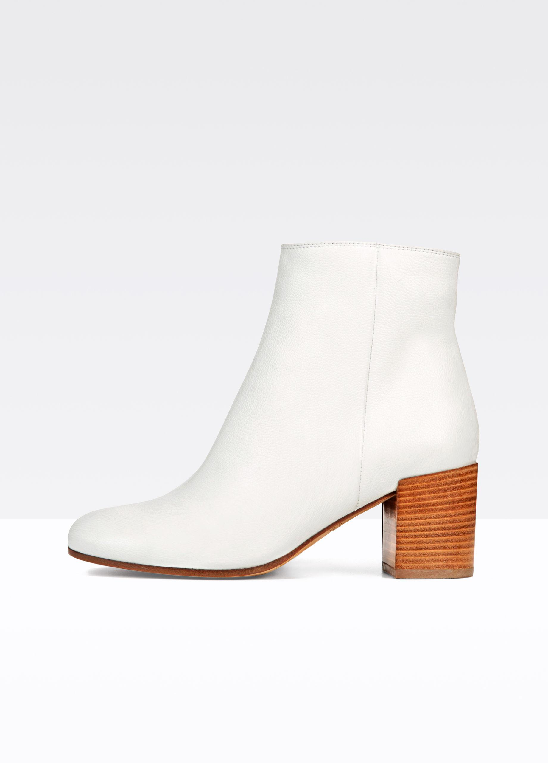 Vince Blakely Leather Bootie in White