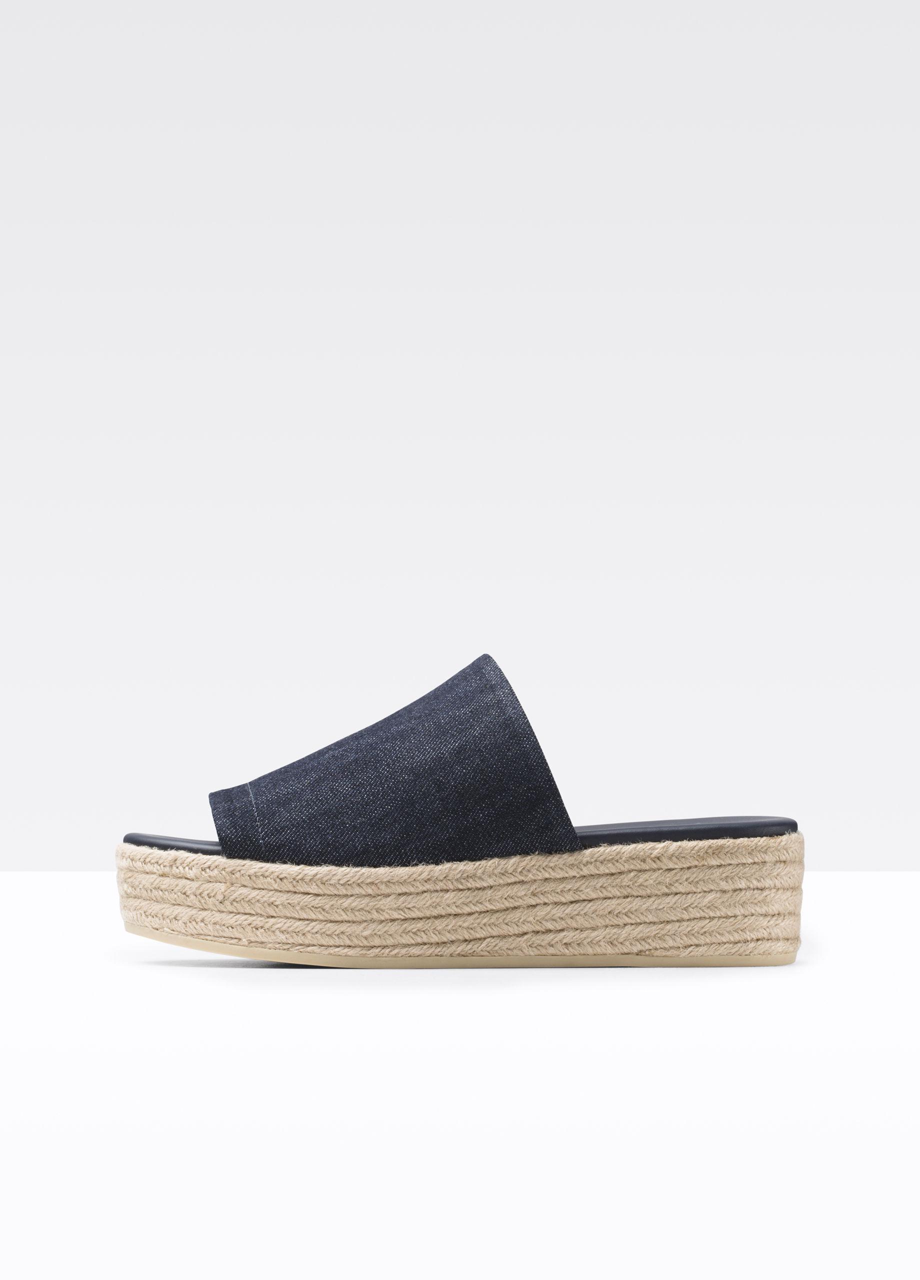 80dd6404e28 Lyst - Vince Solana Denim Espadrille Flatform Sandal in Blue