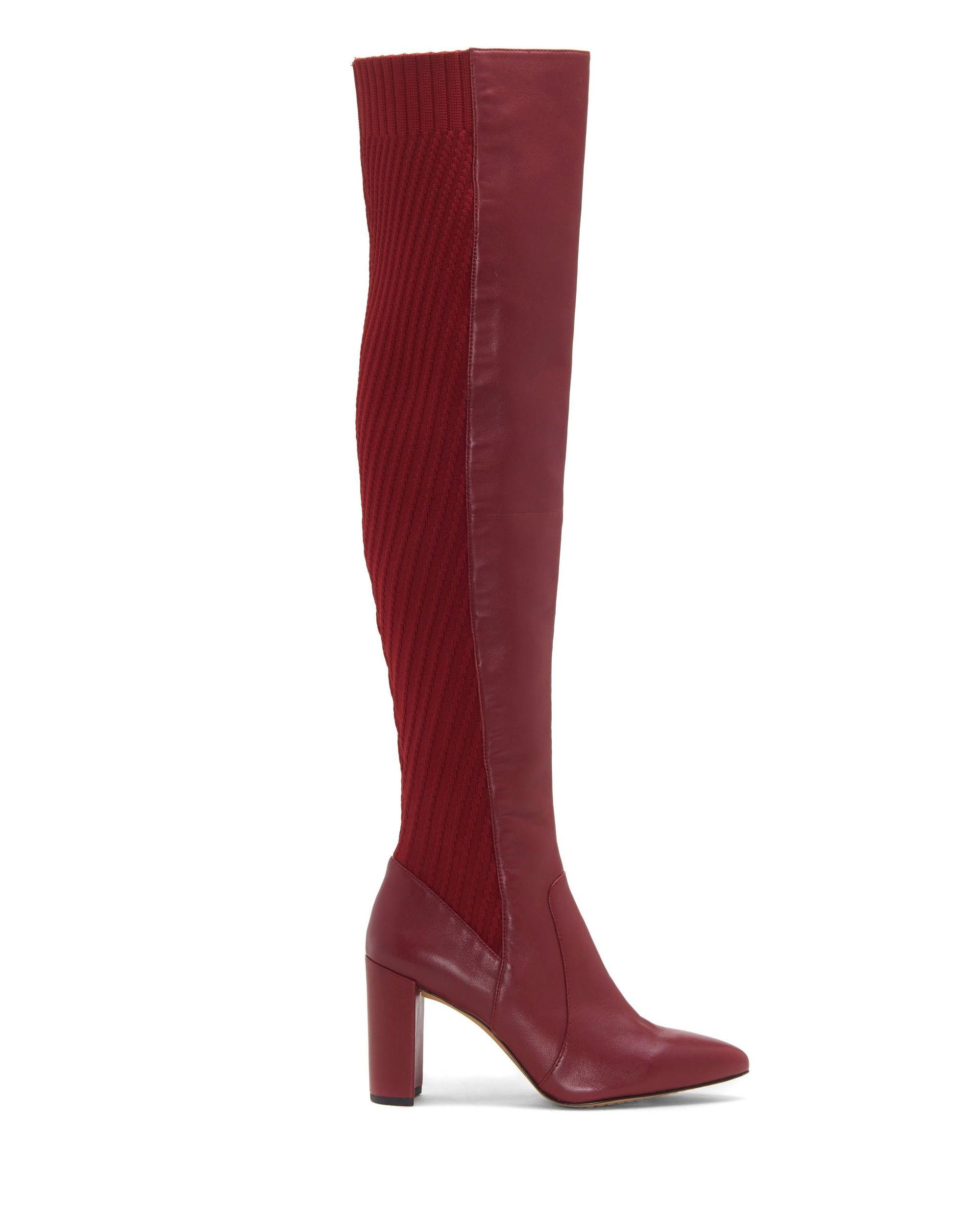 d309ffdb1b6a Lyst - Vince Camuto Majestie – Block-heel Boot in Red - Save 22%