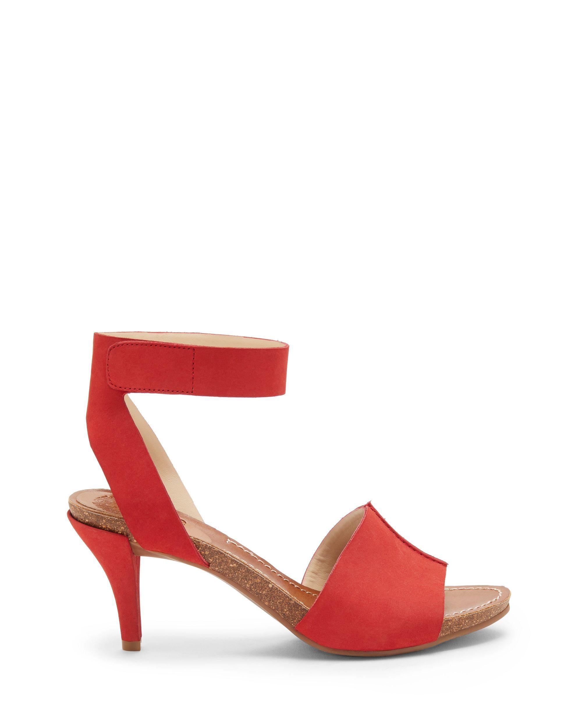 f64eec8de18 Lyst - Vince Camuto Odela – Two-strap Sandal in Red - Save 51%