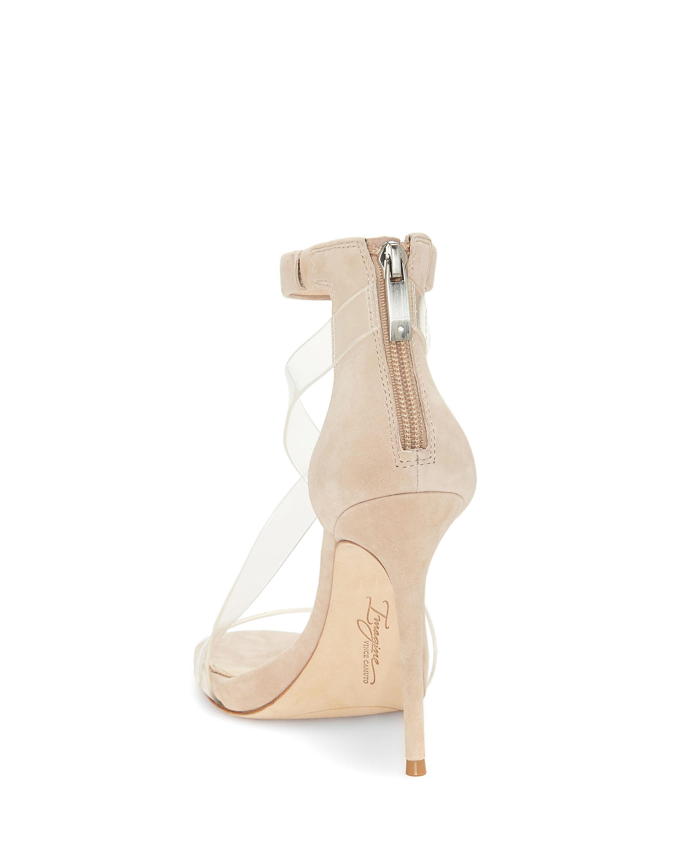 Clear Crisscross-strap Sandal