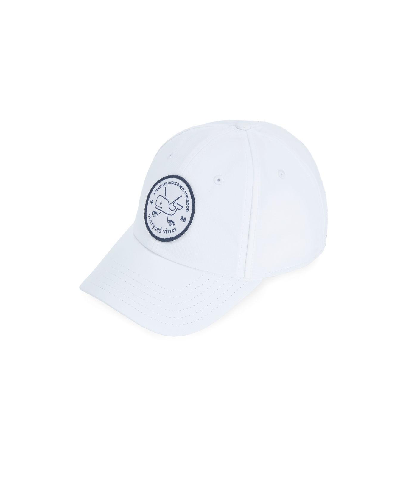45c0ac46bf5 Lyst - Vineyard Vines Golf Patch Performance Baseball Hat in White ...