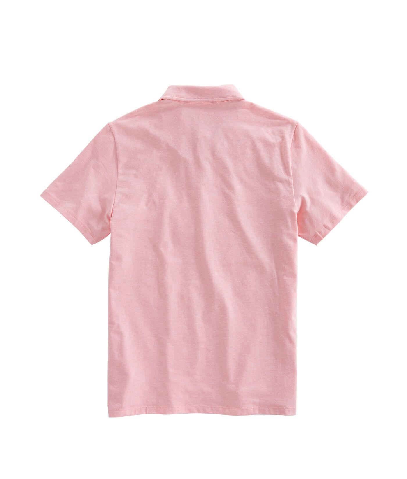 Vineyard Vines Cotton Solid Edgartown Polo Shirt In Pink
