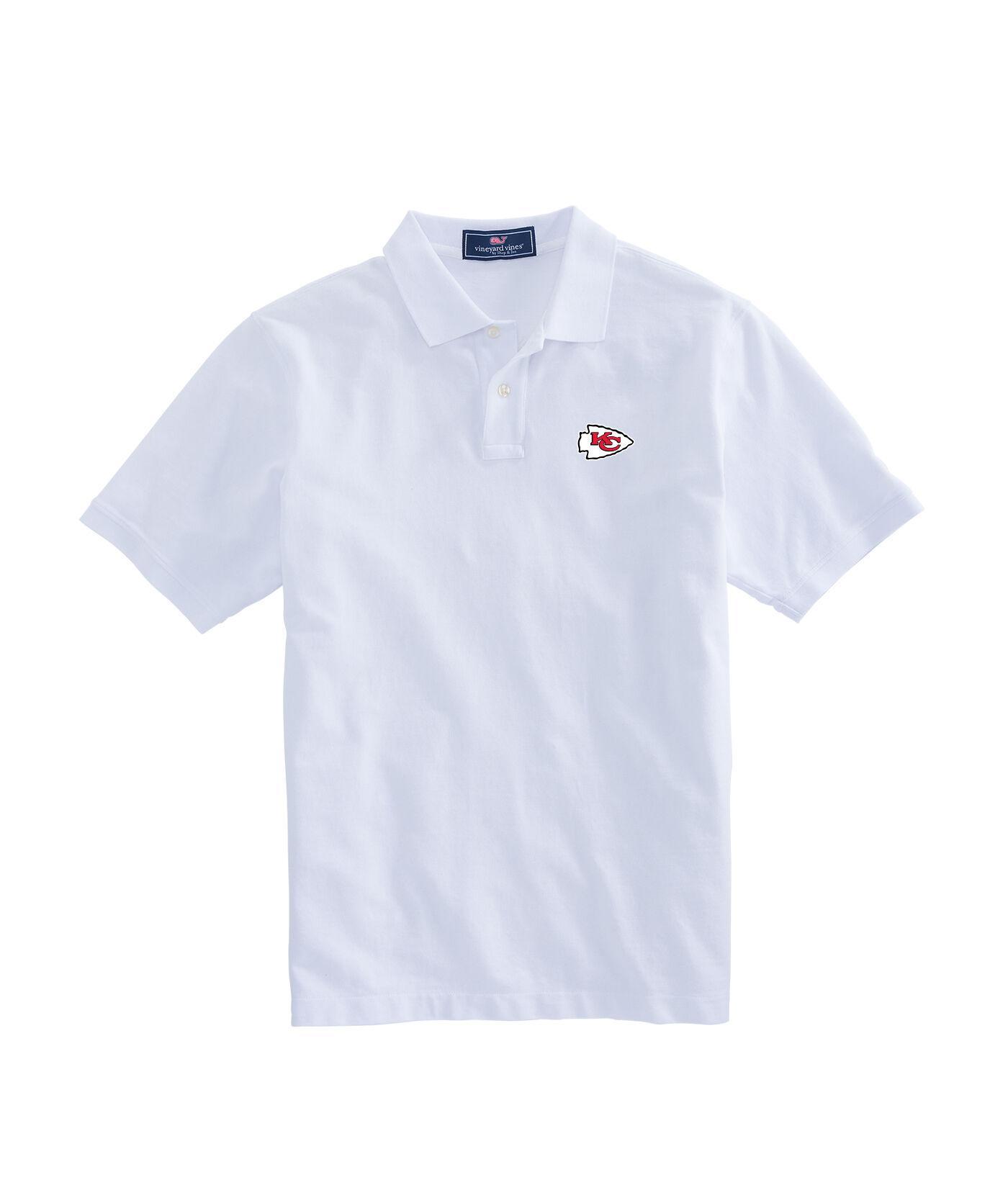 the best attitude 3f7b1 ccfbd Women's White Kansas City Chiefs - Nfl Stretch Polo Shirt