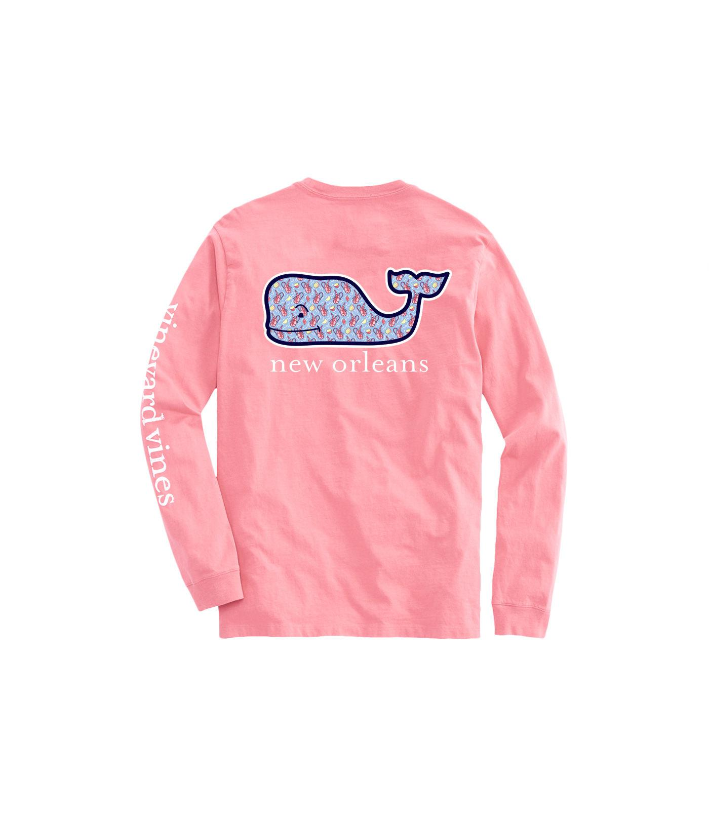 5b06073be Lyst - Vineyard Vines Long-sleeve New Orleans Crawfish Whale Fill T ...