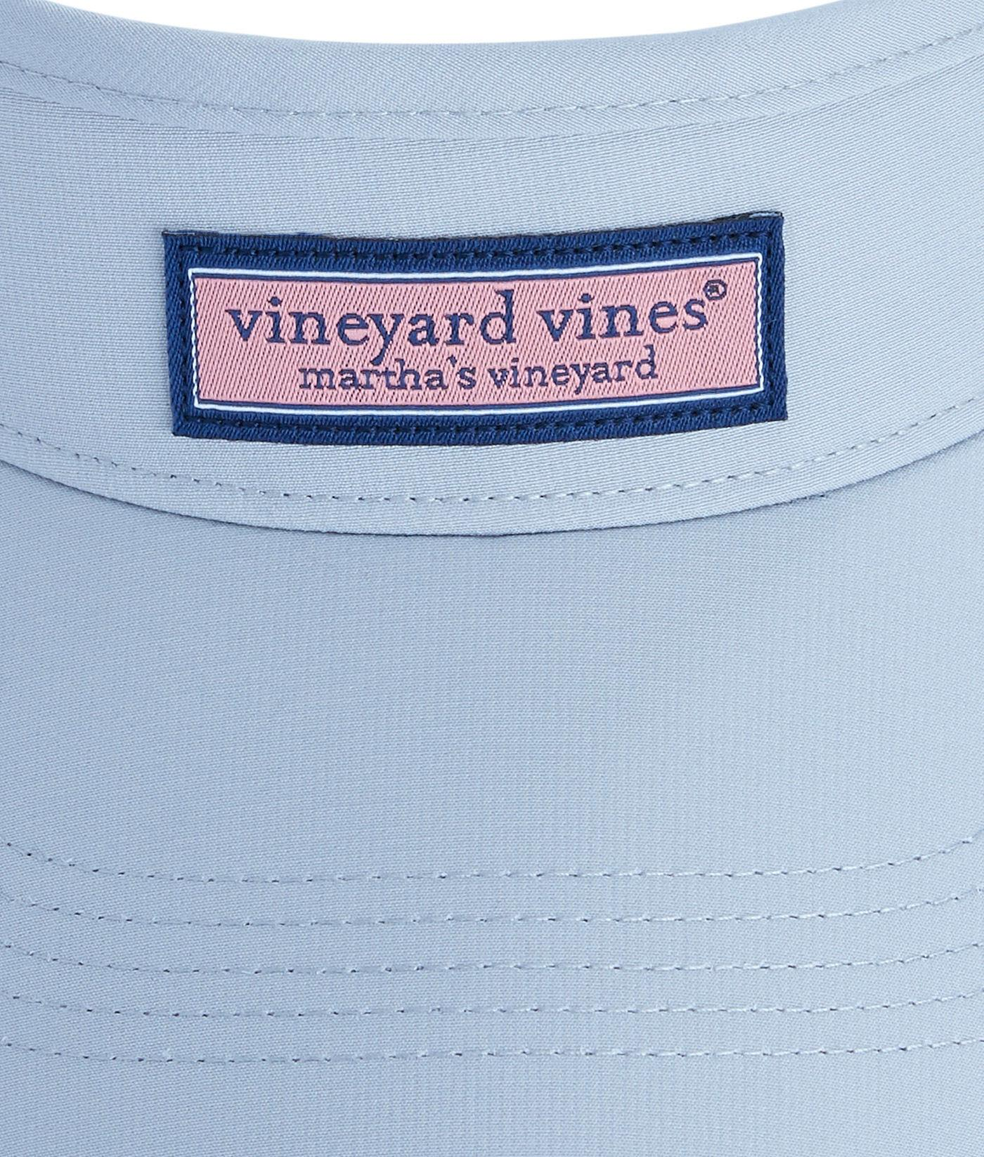 9220db95 Lyst - Vineyard Vines Low Profile Logo Box Visor in Blue for Men