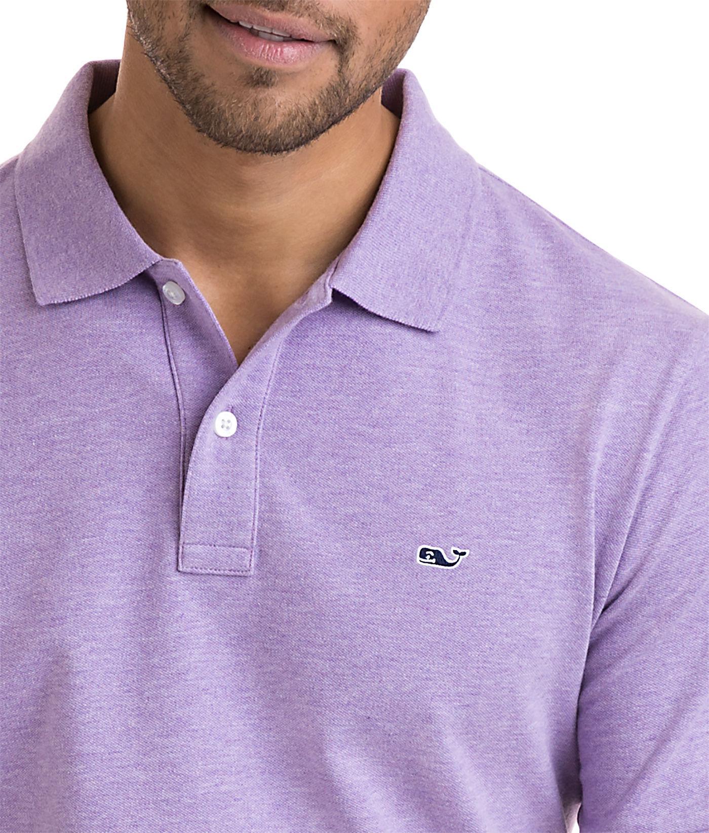 Vineyard Vines - Purple Stretch Pique Heather Polo for Men - Lyst. View  fullscreen 87730f716