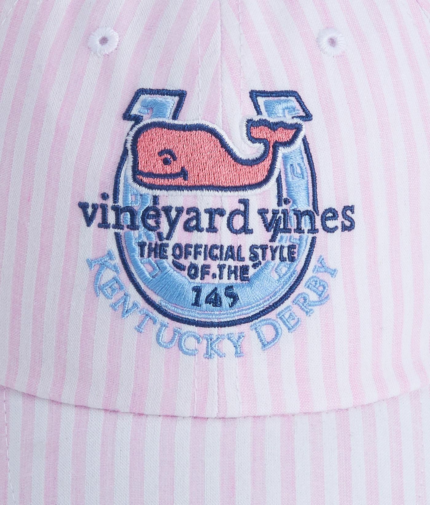 b01ce7f2e Vineyard Vines Purple Kentucky Derby Seersucker Bow Back Hat