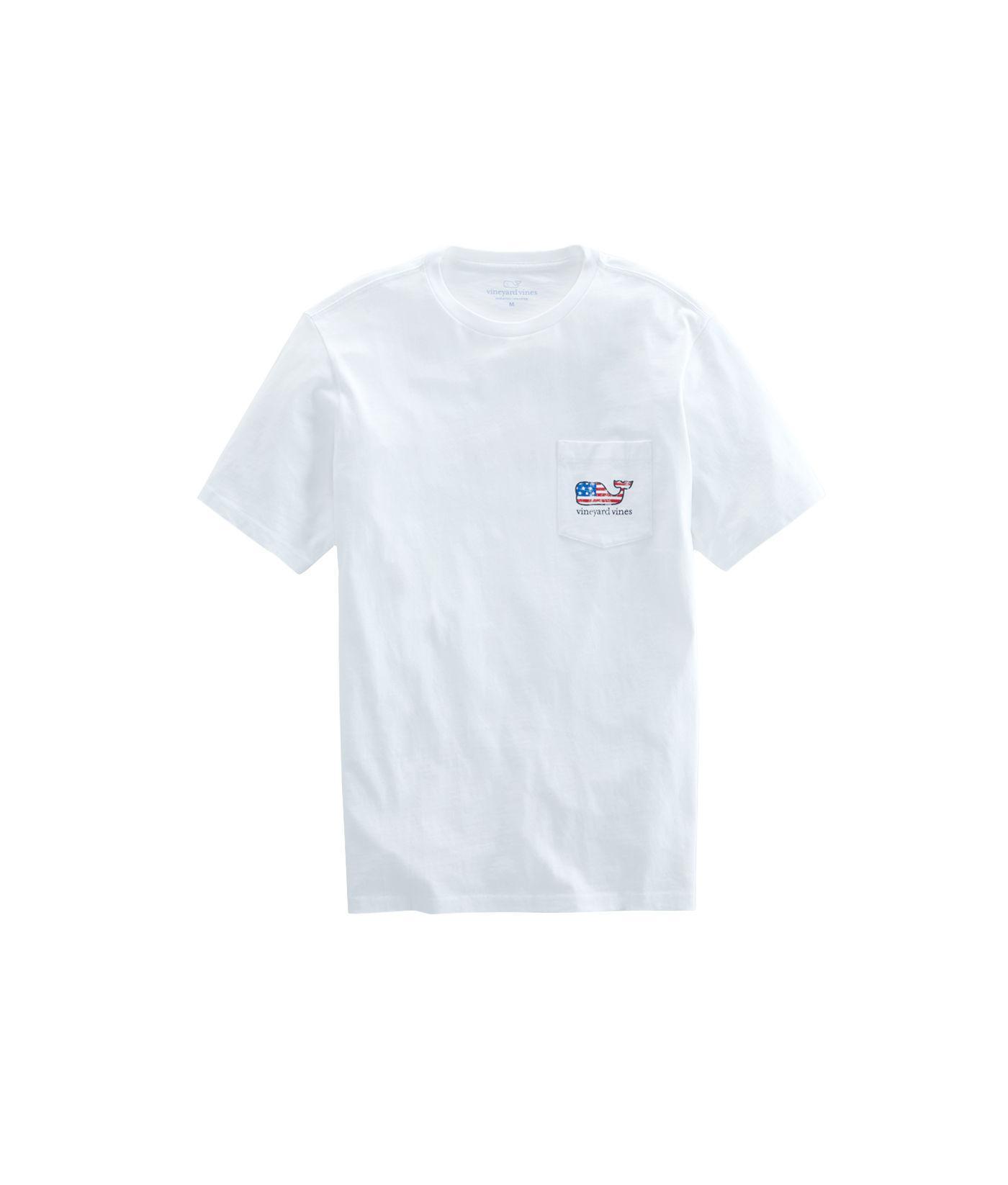 54c1bb3b Lyst - Vineyard Vines Flag Whale Pocket T-shirt in White for Men - Save 7%
