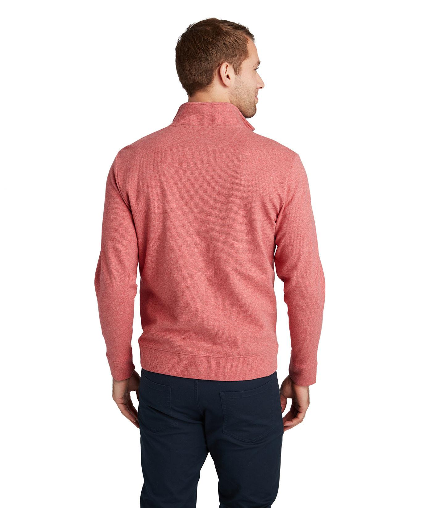 2d5c6a4a5 Lyst - Vineyard Vines New Saltwater 1 2 Zip in Red for Men