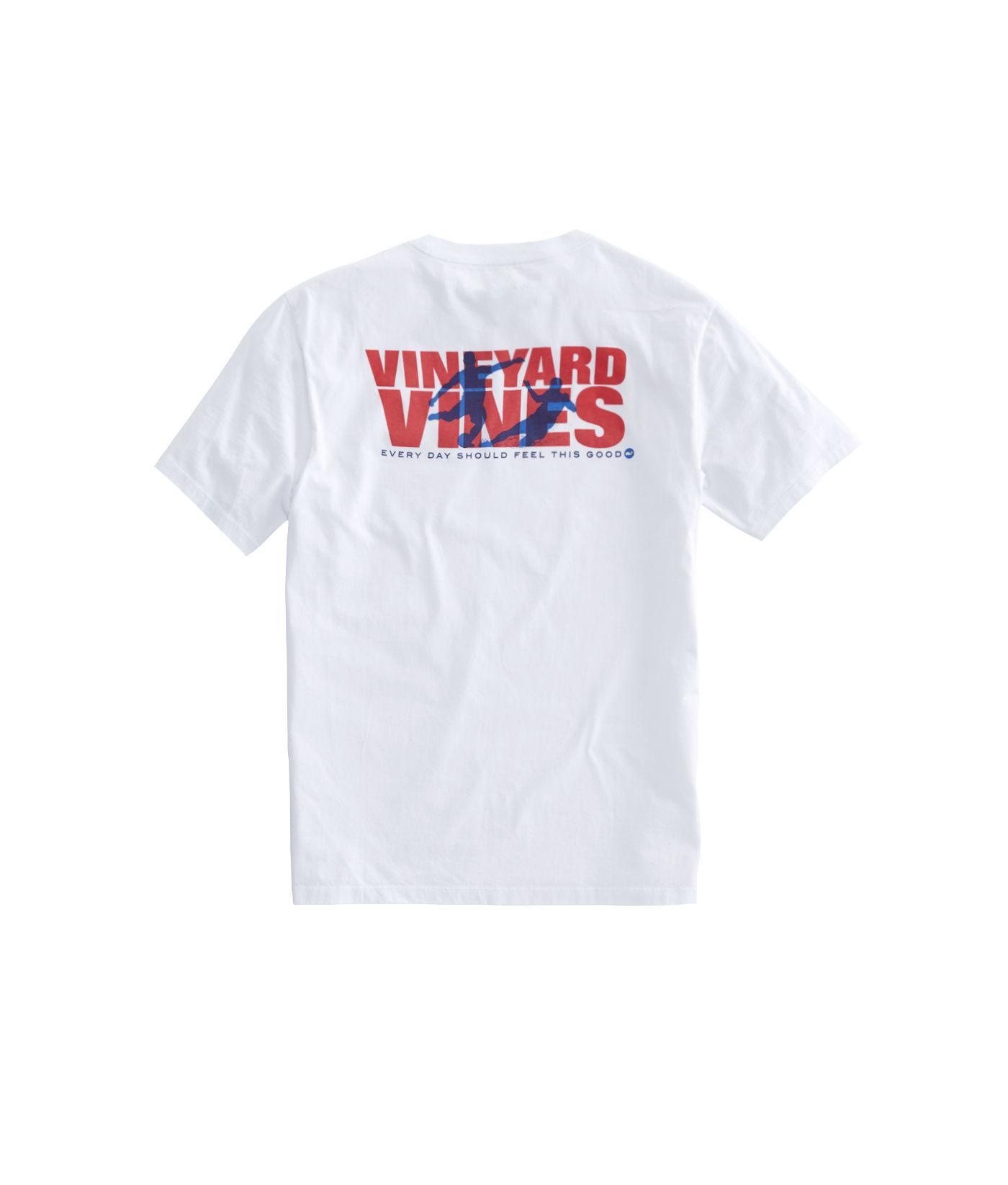 Lyst - Vineyard Vines Knockout Soccer Pocket T-shirt in White for Men 7e25b38fb