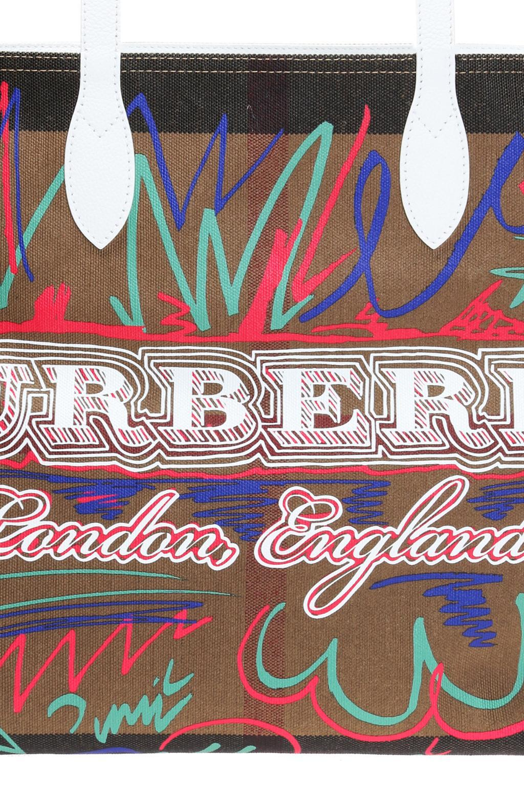 Burberry Leather Reversible Shopper Bag