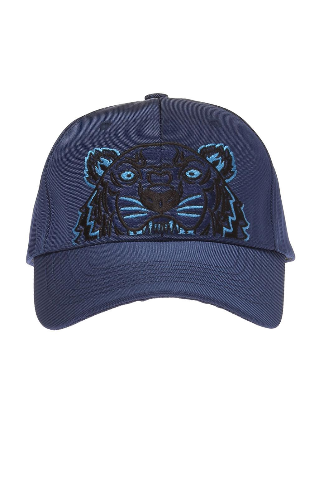 4f3e88802 KENZO Baseball Cap With A Tiger Head Motif in Blue for Men - Lyst