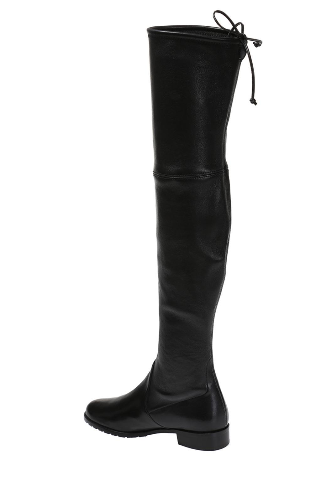 Stuart Weitzman 'lowland' Tied-up Leather Boots in Black