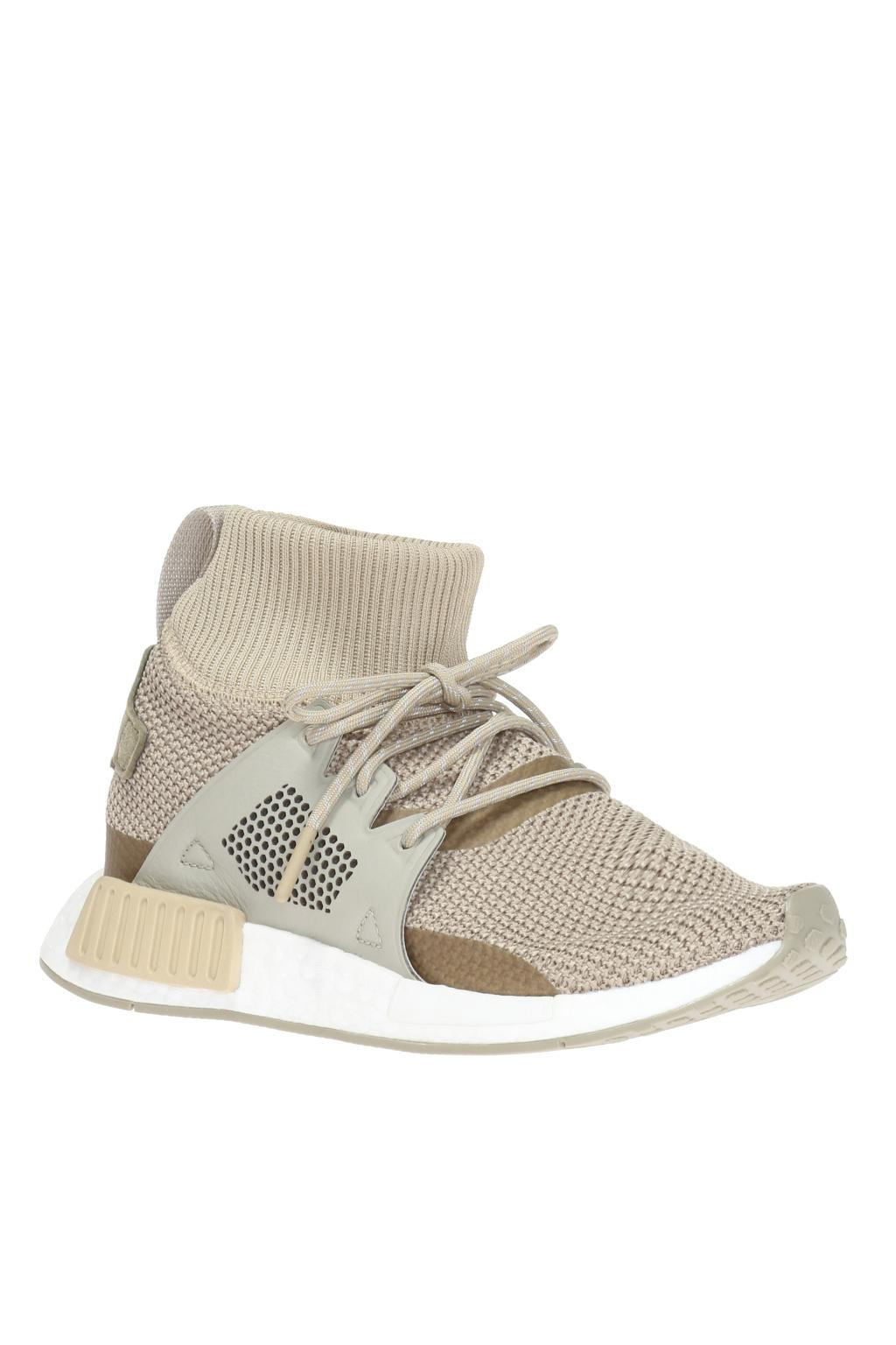adidas Originals Leather 'nmd Xr1 Boost' Sneakers in Natural
