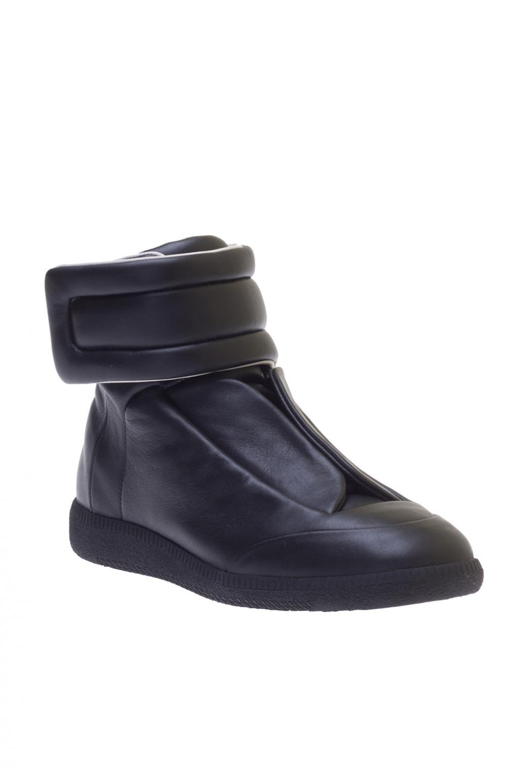 Maison Margiela Leather High-top Sneakers in Black