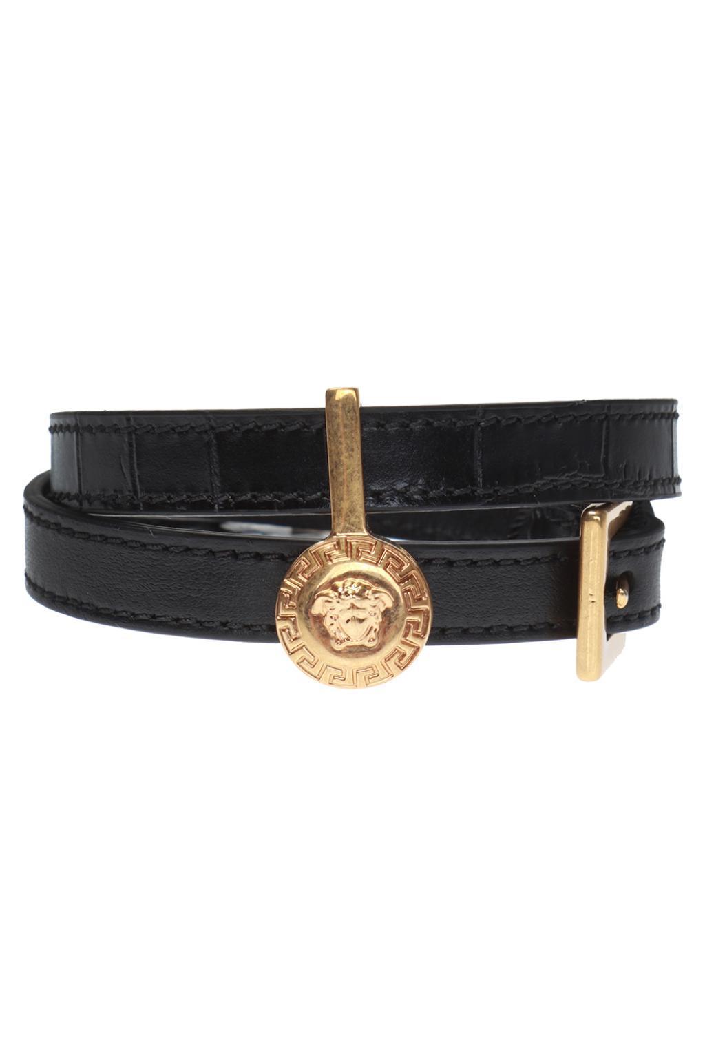 59411690161 Versace Medusa Head Bracelet in Black for Men - Lyst