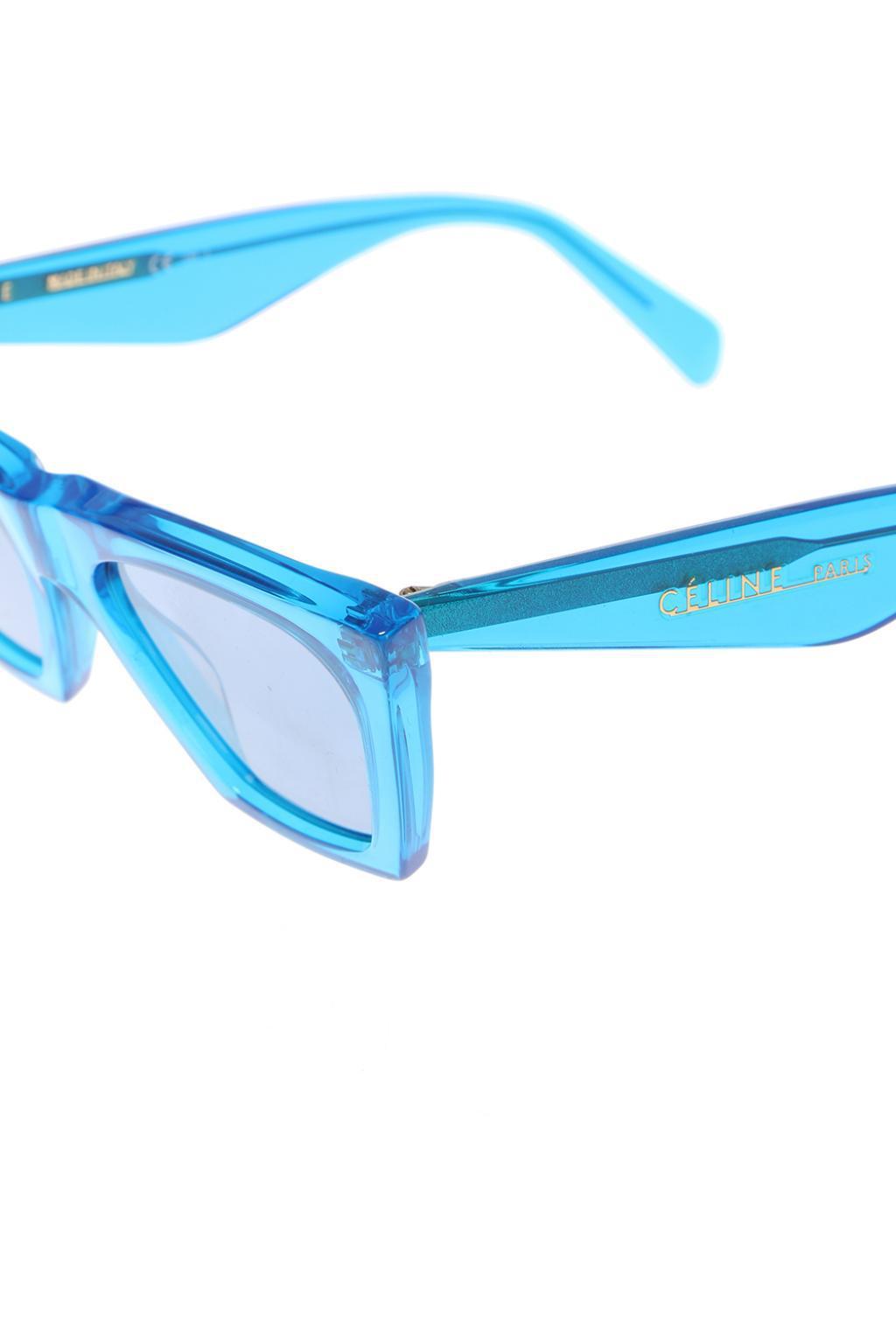 Celine 'edge' Sunglasses in Blue