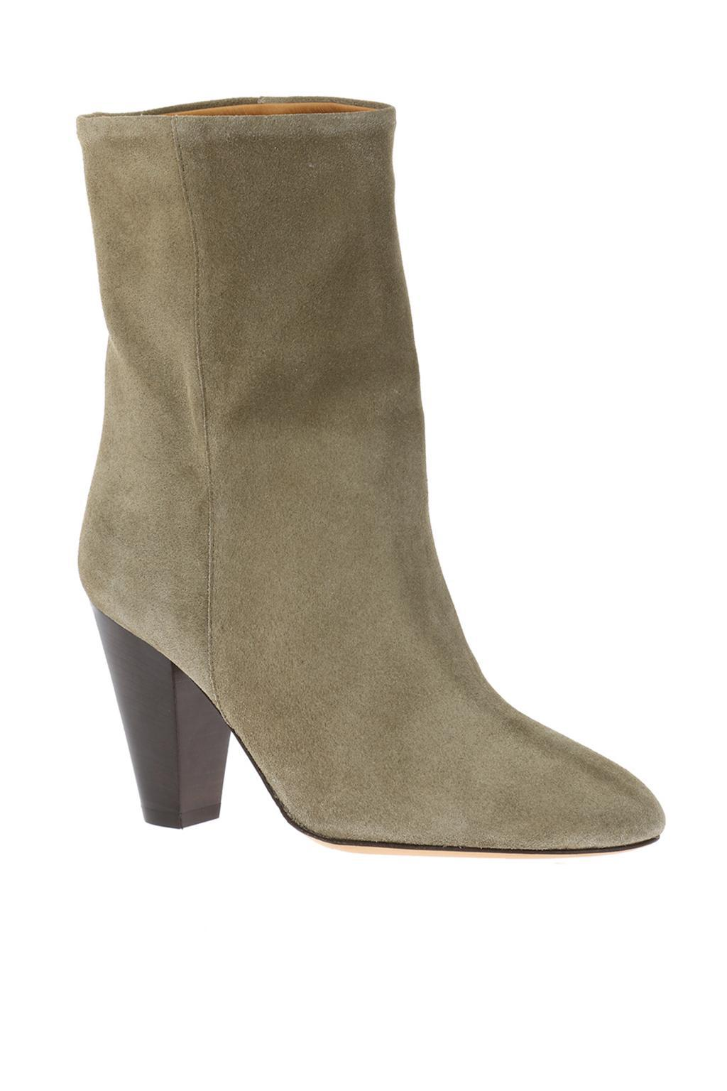 Étoile Isabel Marant Suede 'darilay' Heeled Ankle Boots in Grey (Grey)