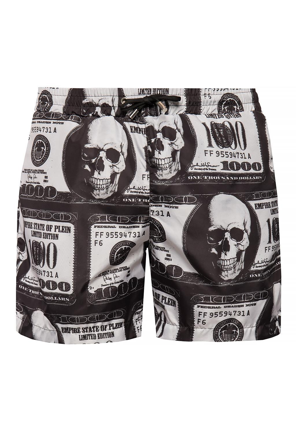 d05f99d318 Philipp Plein Patterned Shorts in Black for Men - Lyst