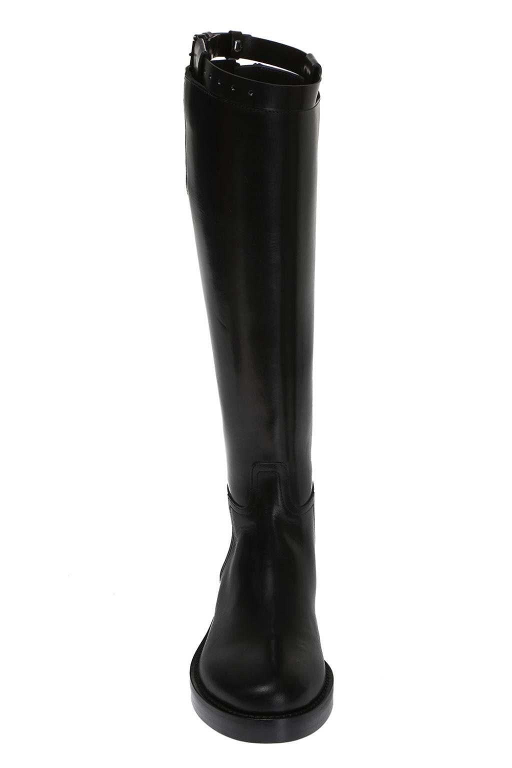 Ann Demeulemeester Leather Calf-length Boots in Black