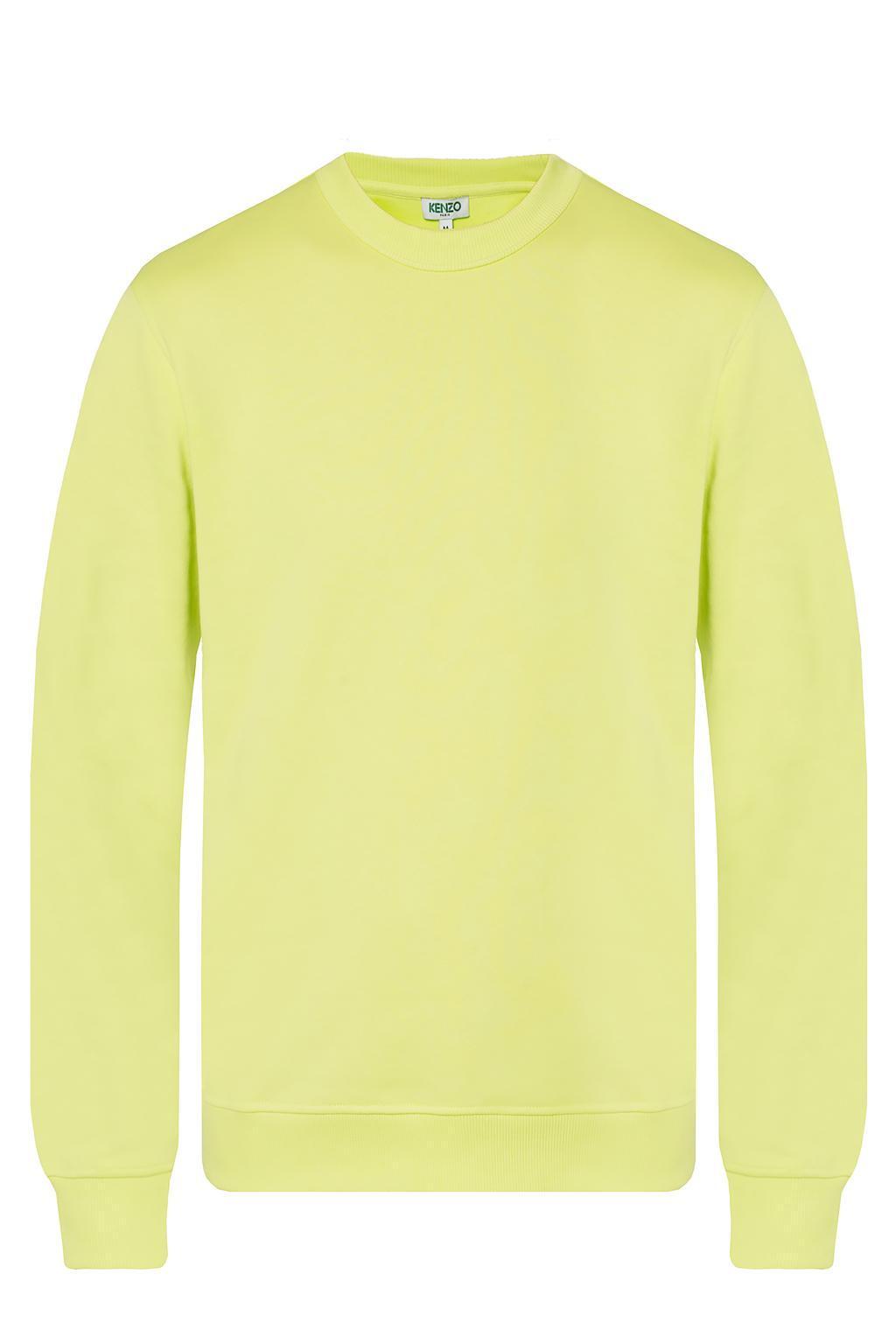 5eb13a14 KENZO - Yellow Logo-printed Sweatshirt for Men - Lyst. View fullscreen