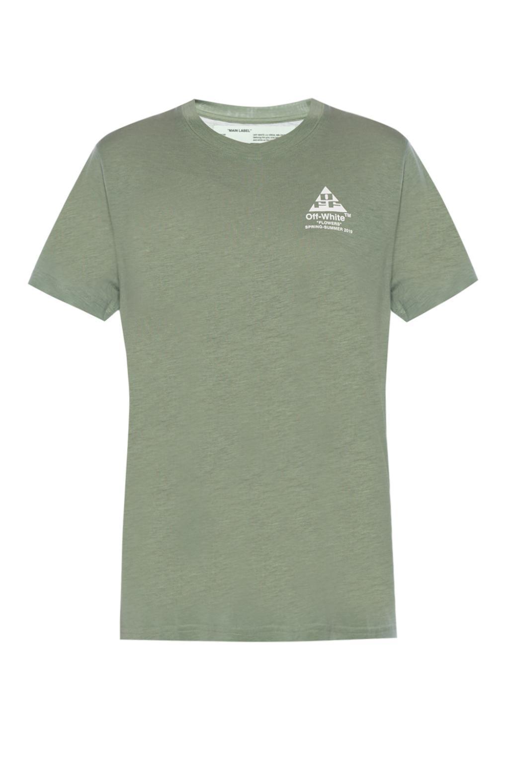 5669cff5718 Lyst - Off-White c o Virgil Abloh Arrow Motif T-shirt in Green