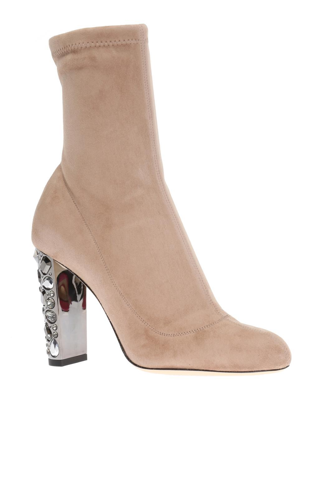 Jimmy Choo Suede 'maine' Heeled Boots in Brown
