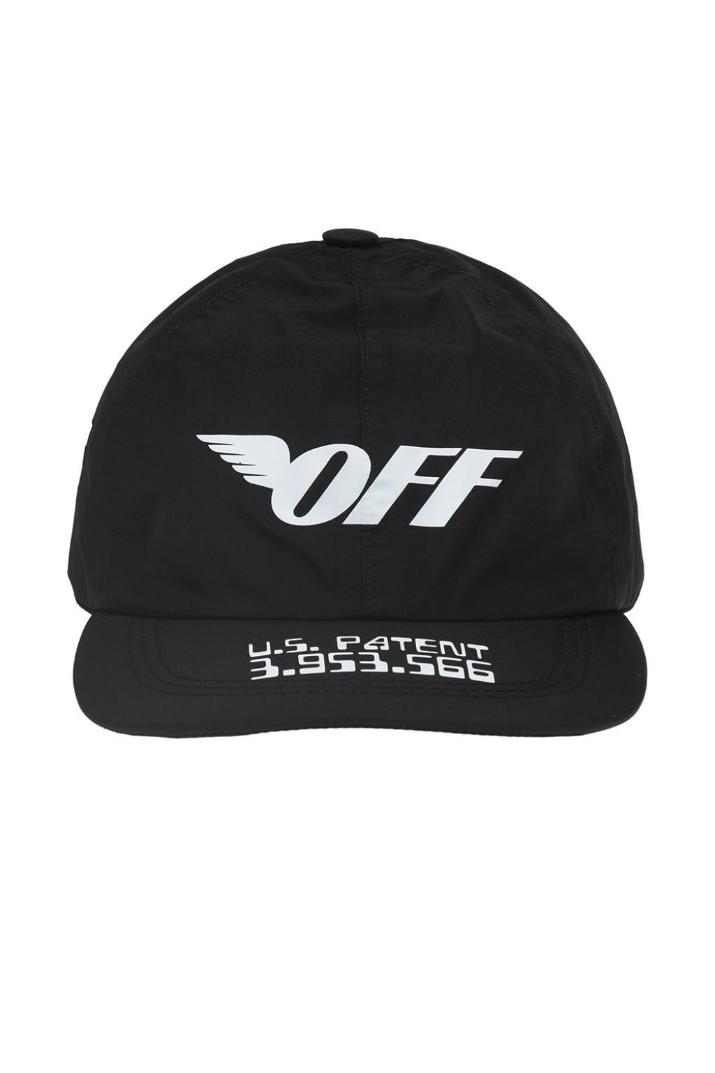 fe384cd17de Lyst - Off-White c o Virgil Abloh Baseball Cap With Prints in Black ...