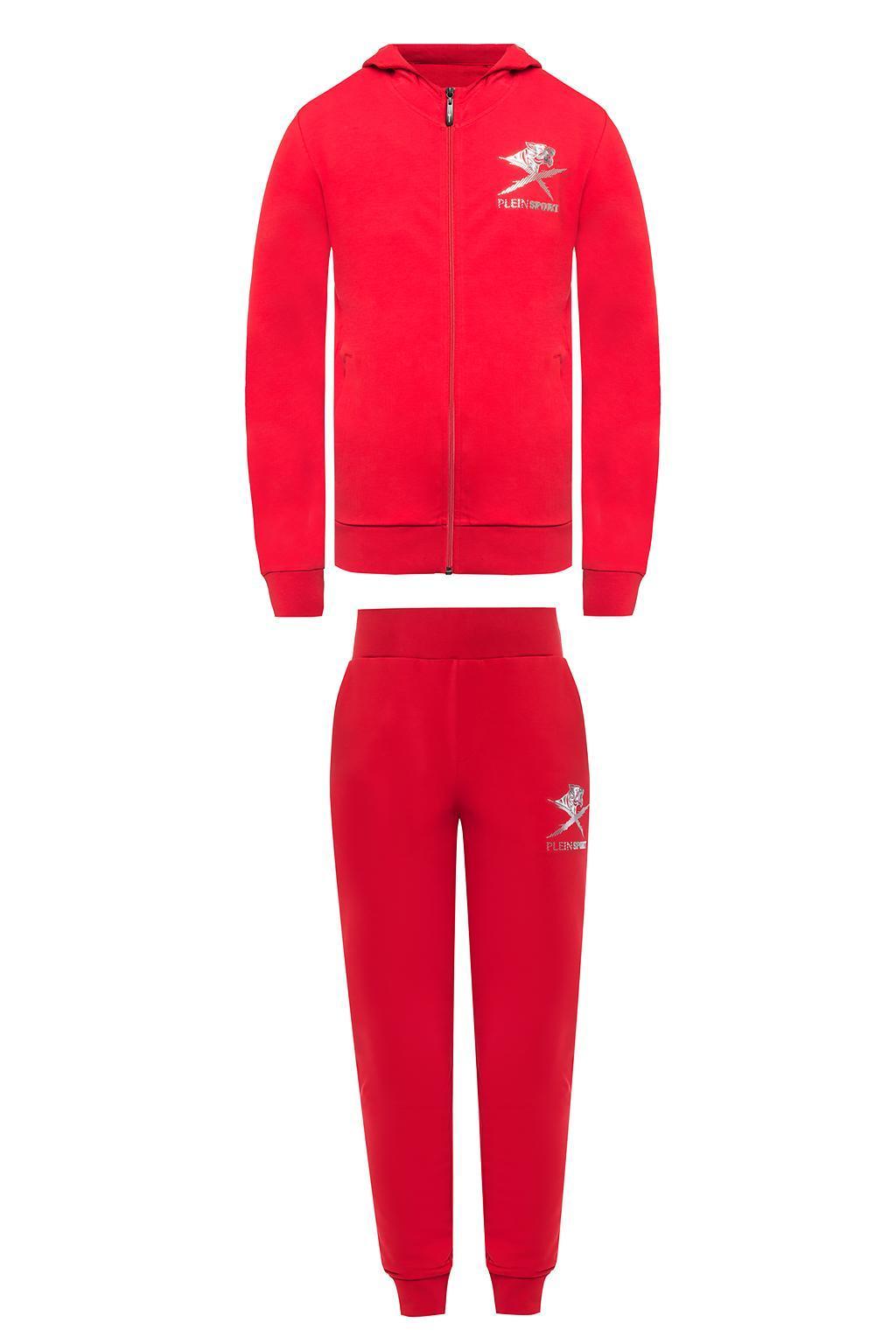 ab4a13b6e4774 Red Sweatshirt And Sweatpants Set - raveitsafe